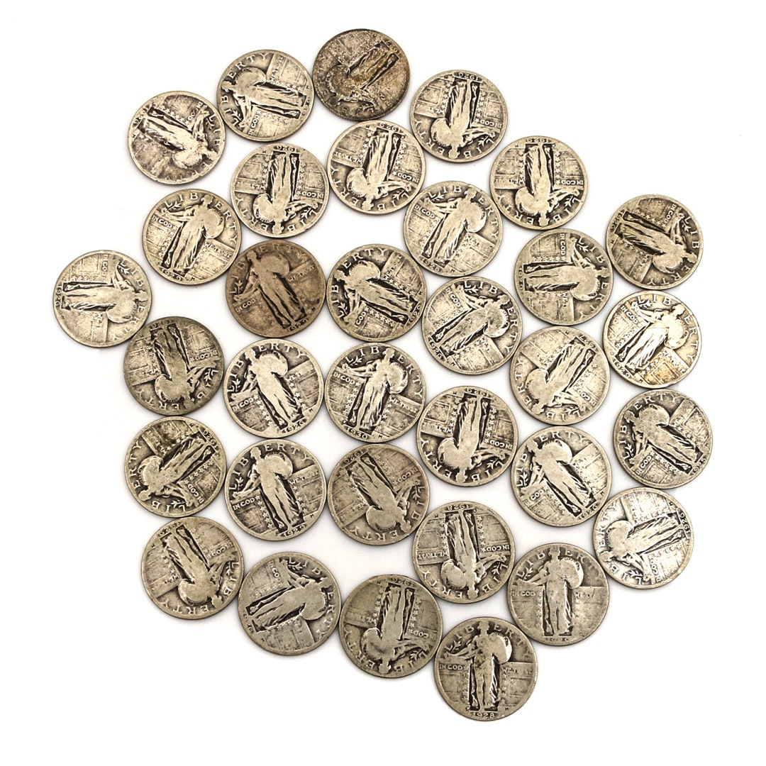 Thirty-Three Standing Liberty Silver Quarters