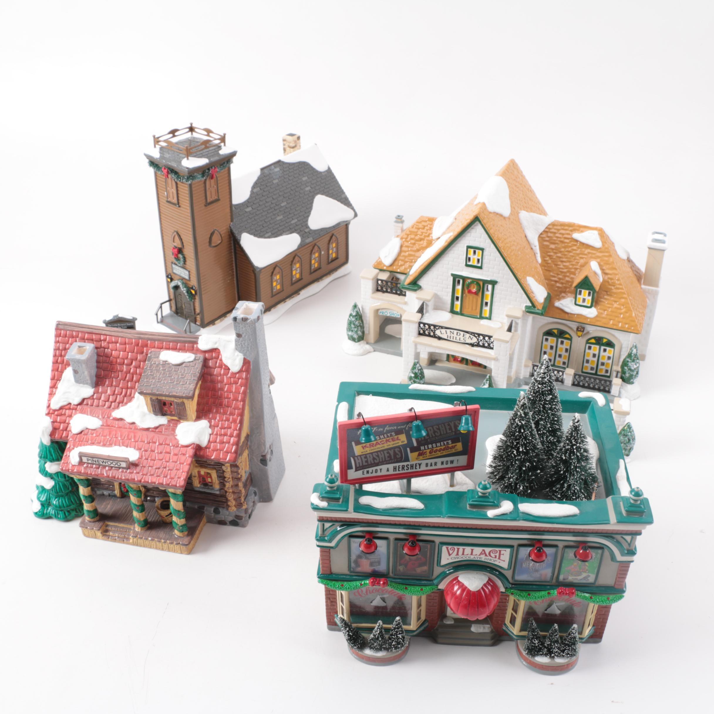 """Department 56 """"Snow Village"""" Light-Up Buildings"""