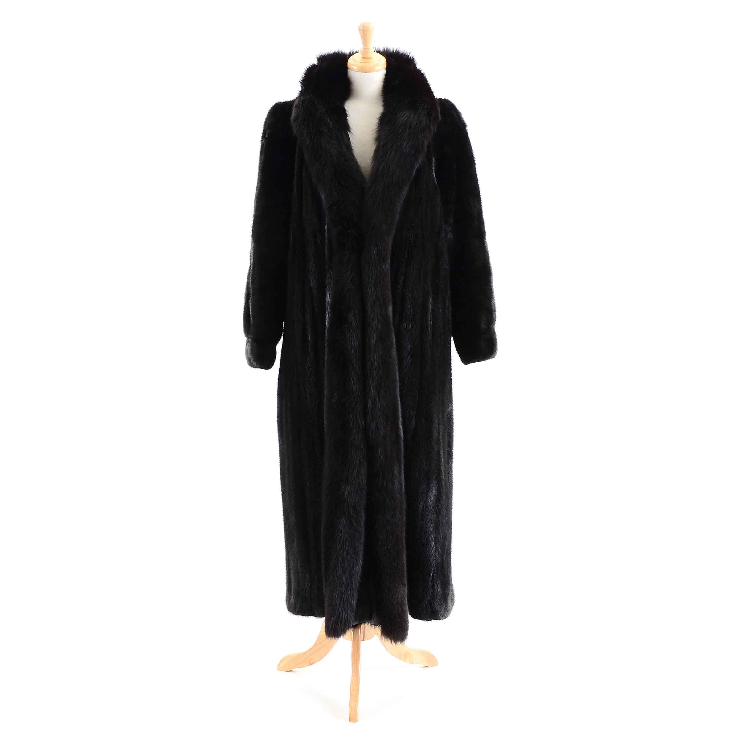 Vintage Mink and Fox Fur Coat