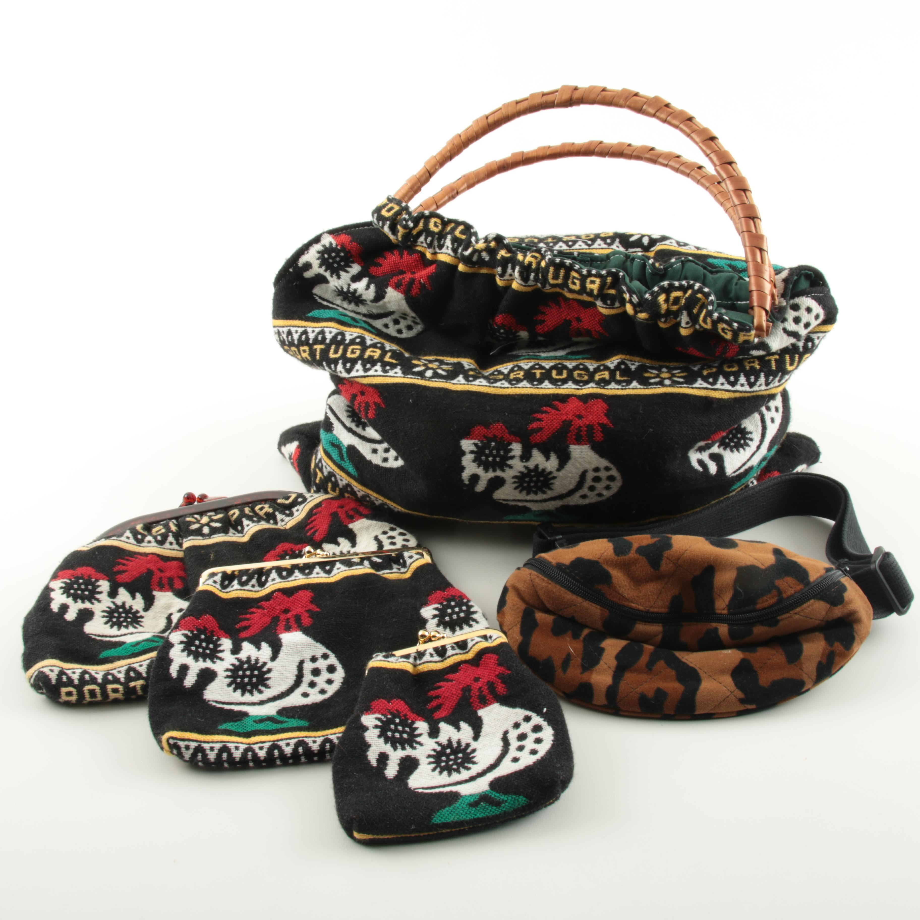 Kenzo Jungle Fanny Pack and Woven Portugal Bags