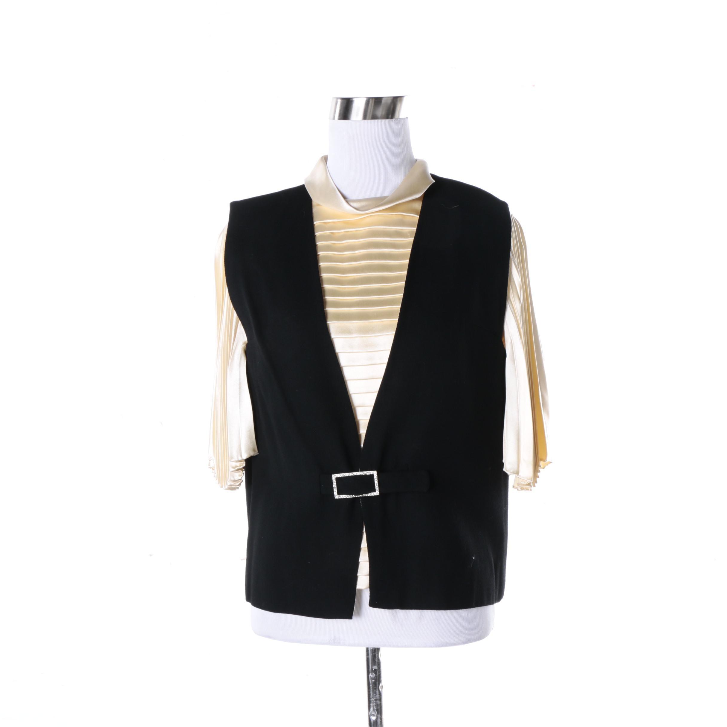 Vintage Cardinali Blouse and Vest