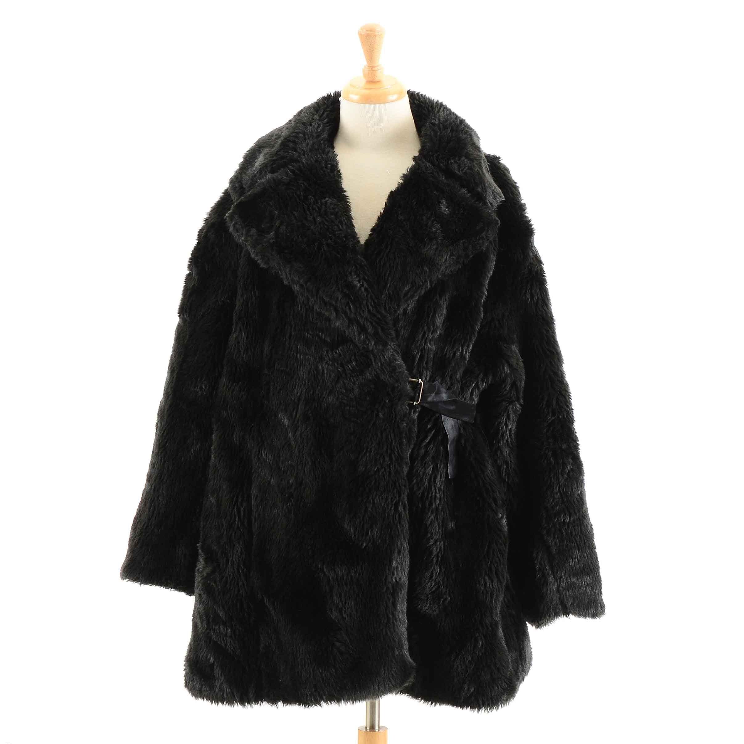 John Richmond Faux Fur Coat