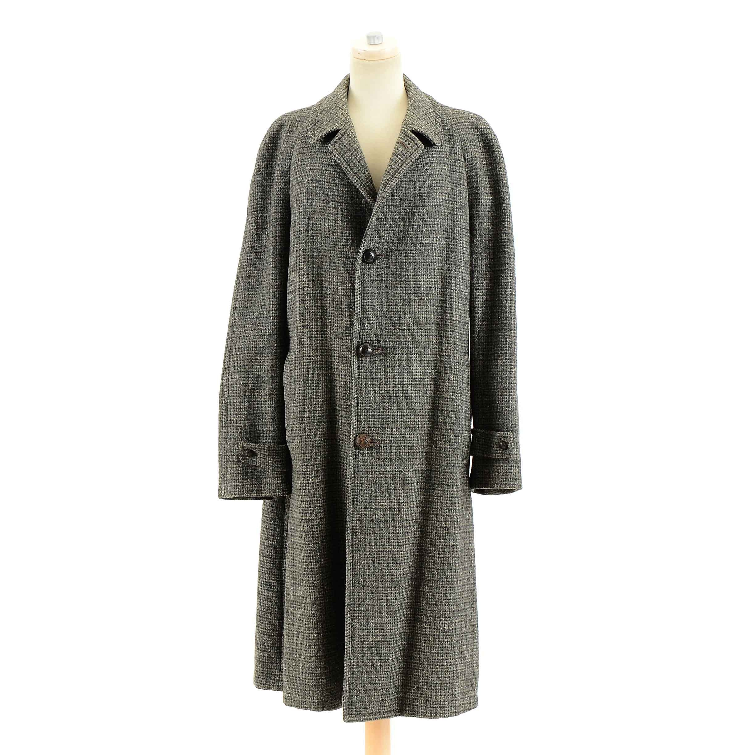 Vintage Men's Scottish Wool Coat by Harris Tweed
