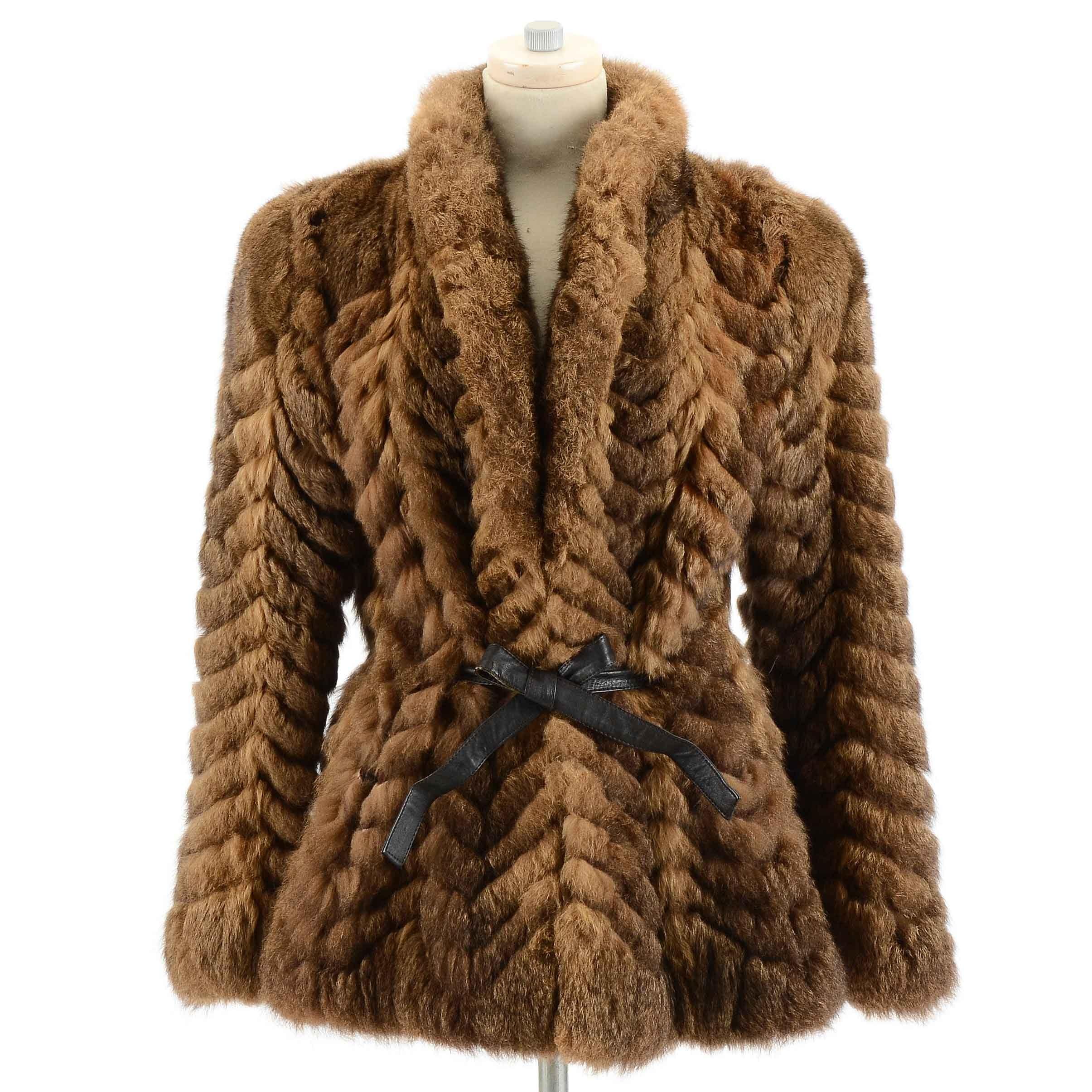 Women's Vintage Sheared Fur Coat