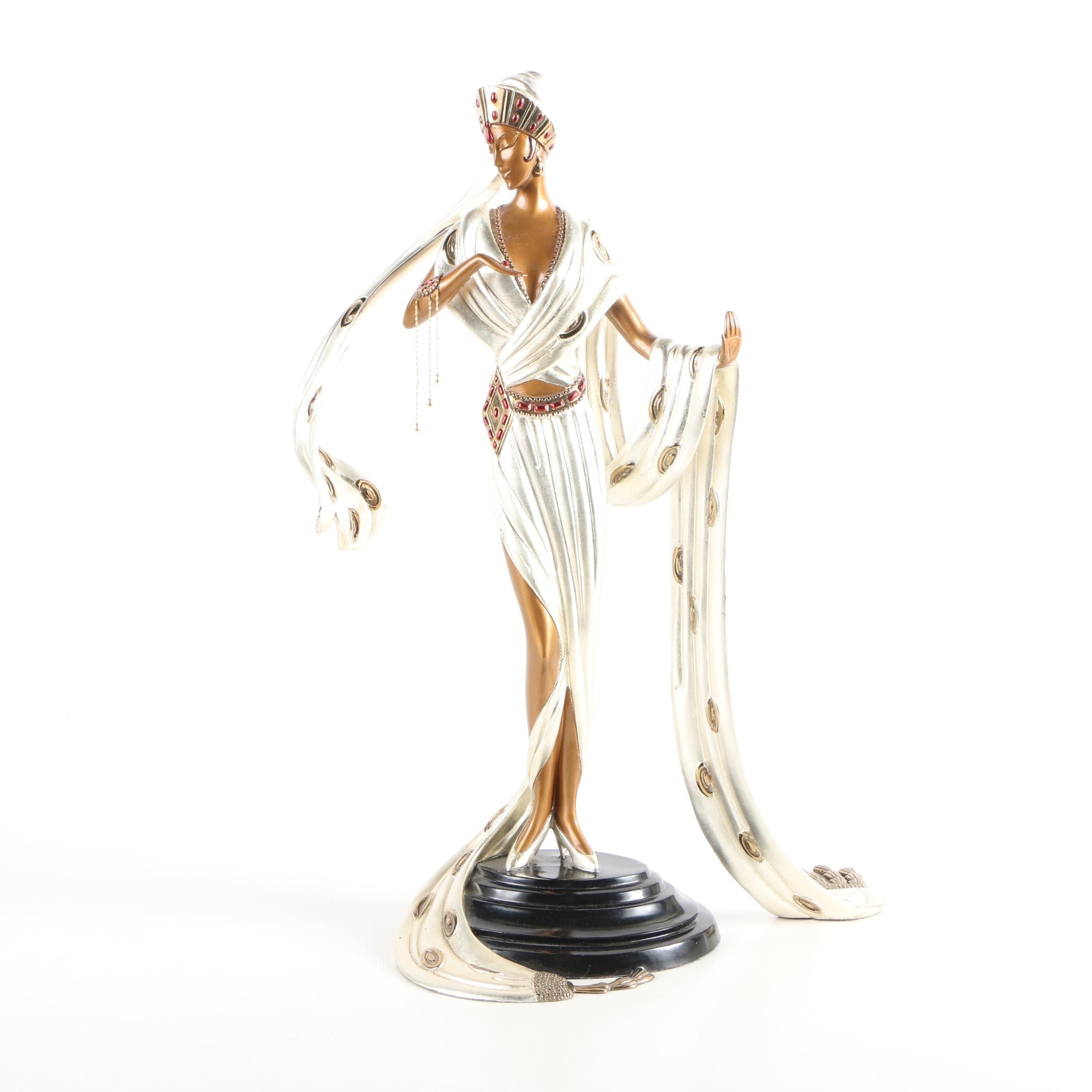 "Erté Patinated-Bronze Sculpture ""Scheherazade"""