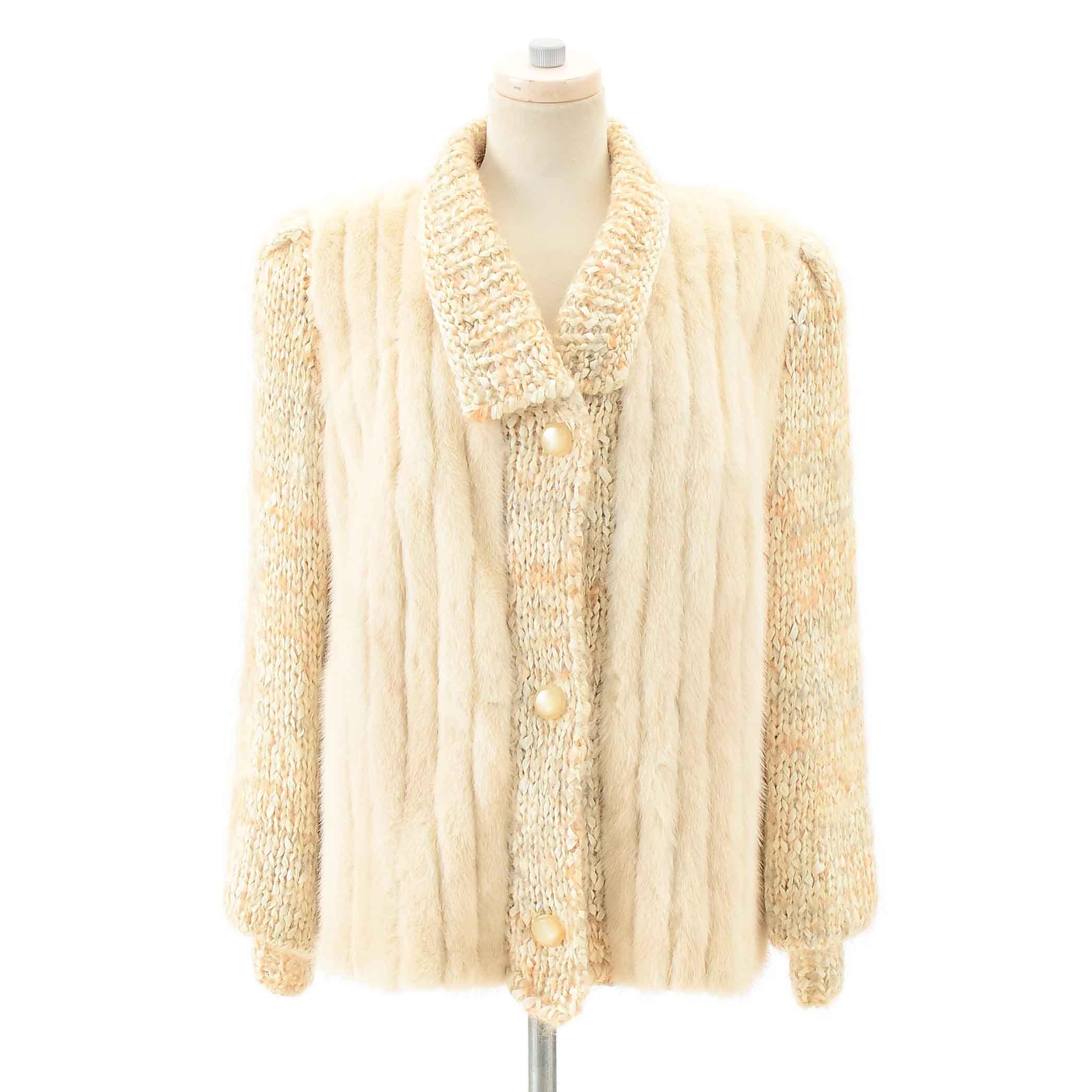 Vintage Mink Fur and Angora Jacket
