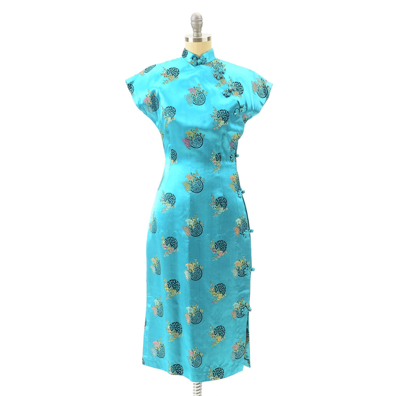 Vintage Chinese Cheongsam Dress