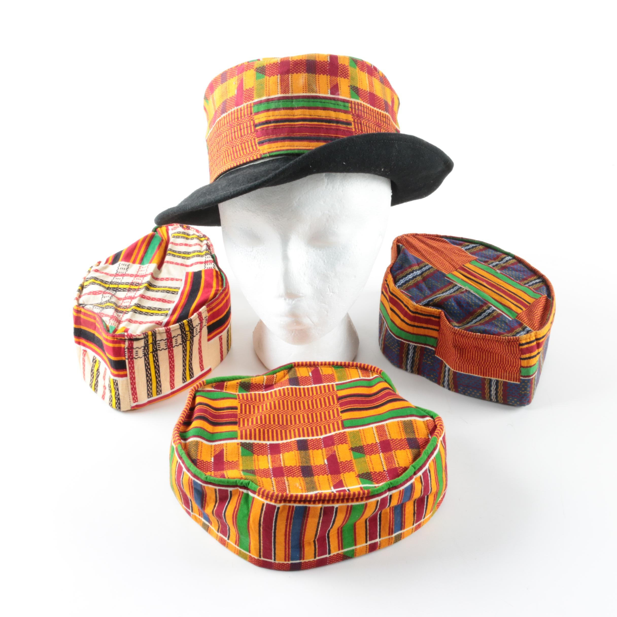African Kente Cloth Hats