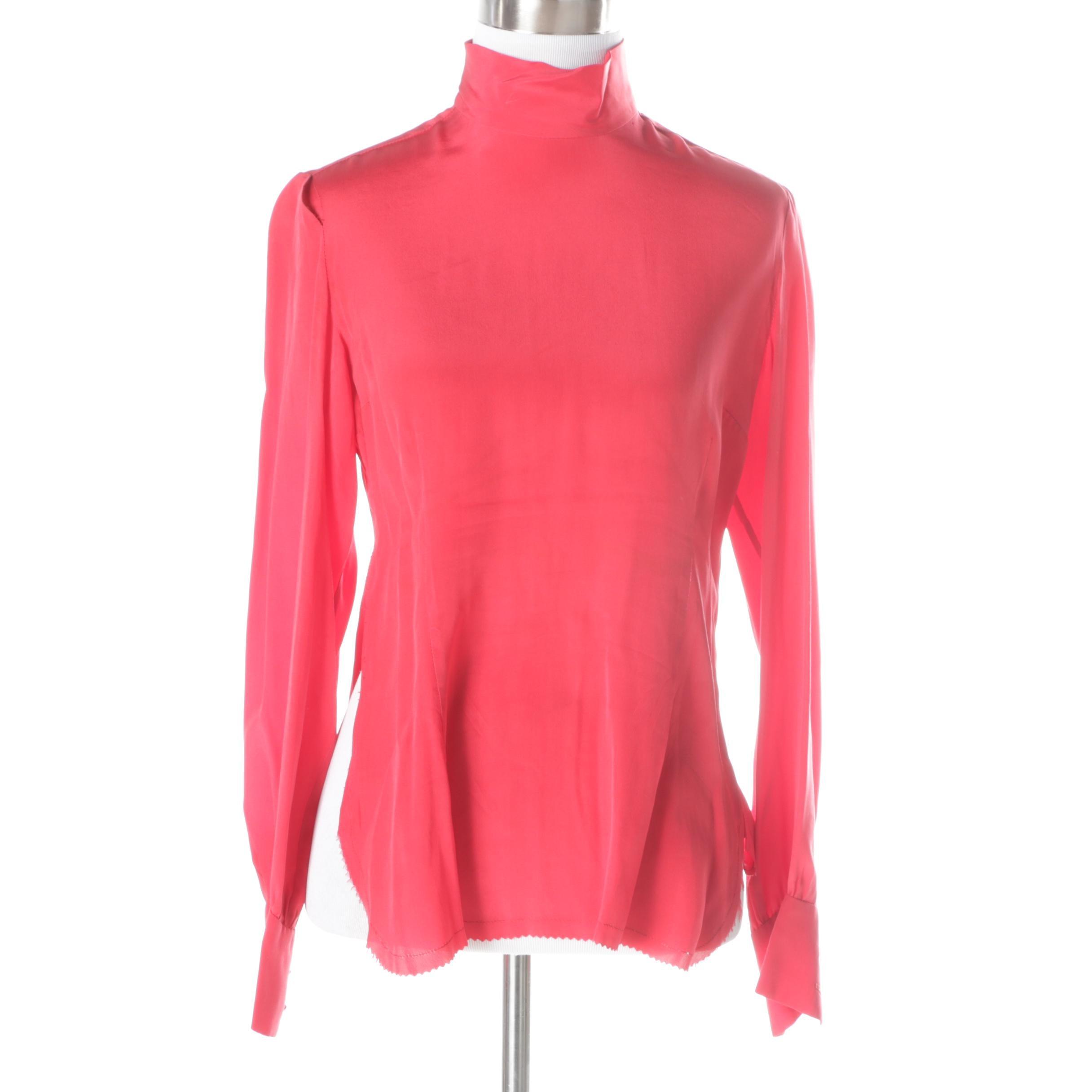 Vintage Cardinali Silk Top