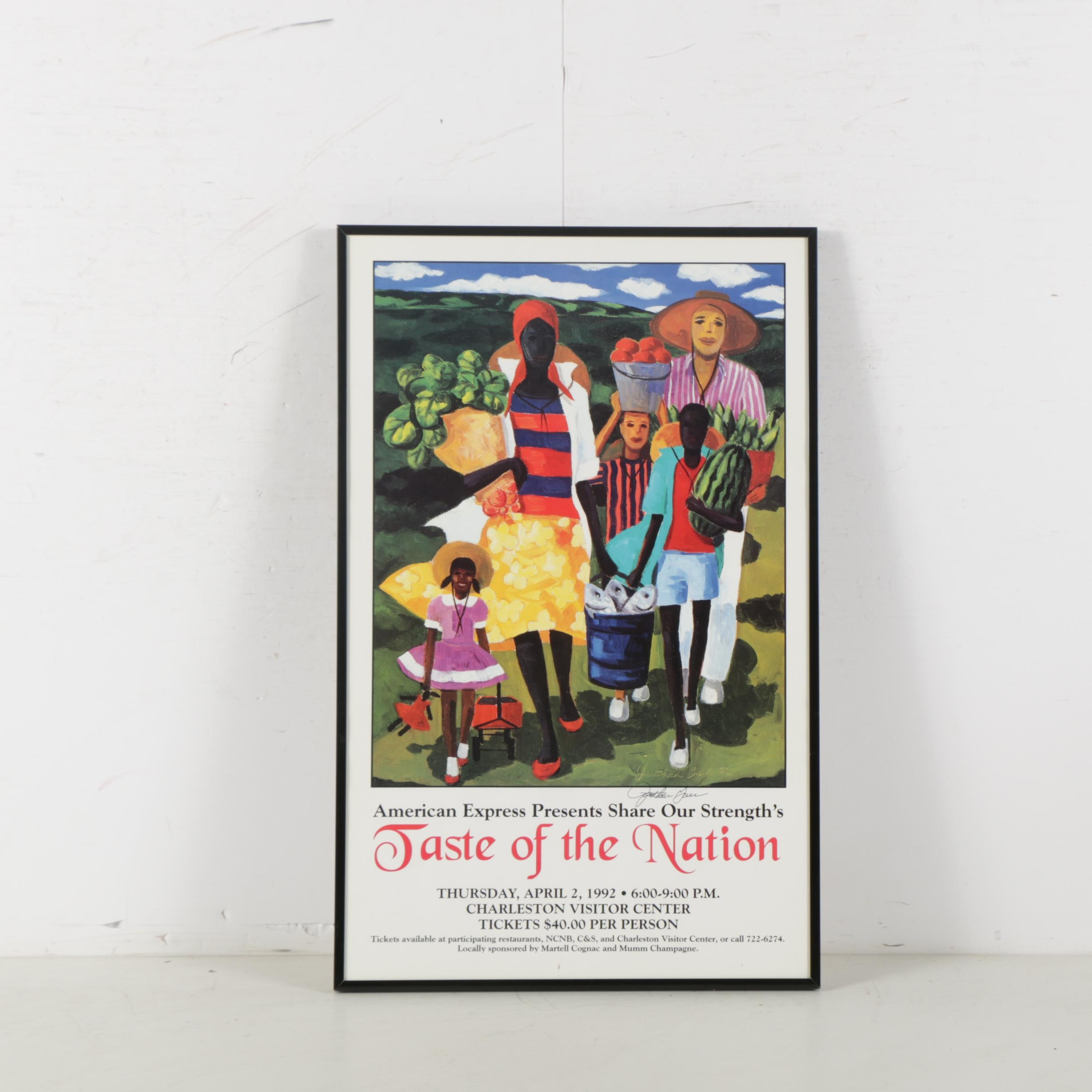 "Jonathan Green ""Taste of the Nation"" Signed Poster"
