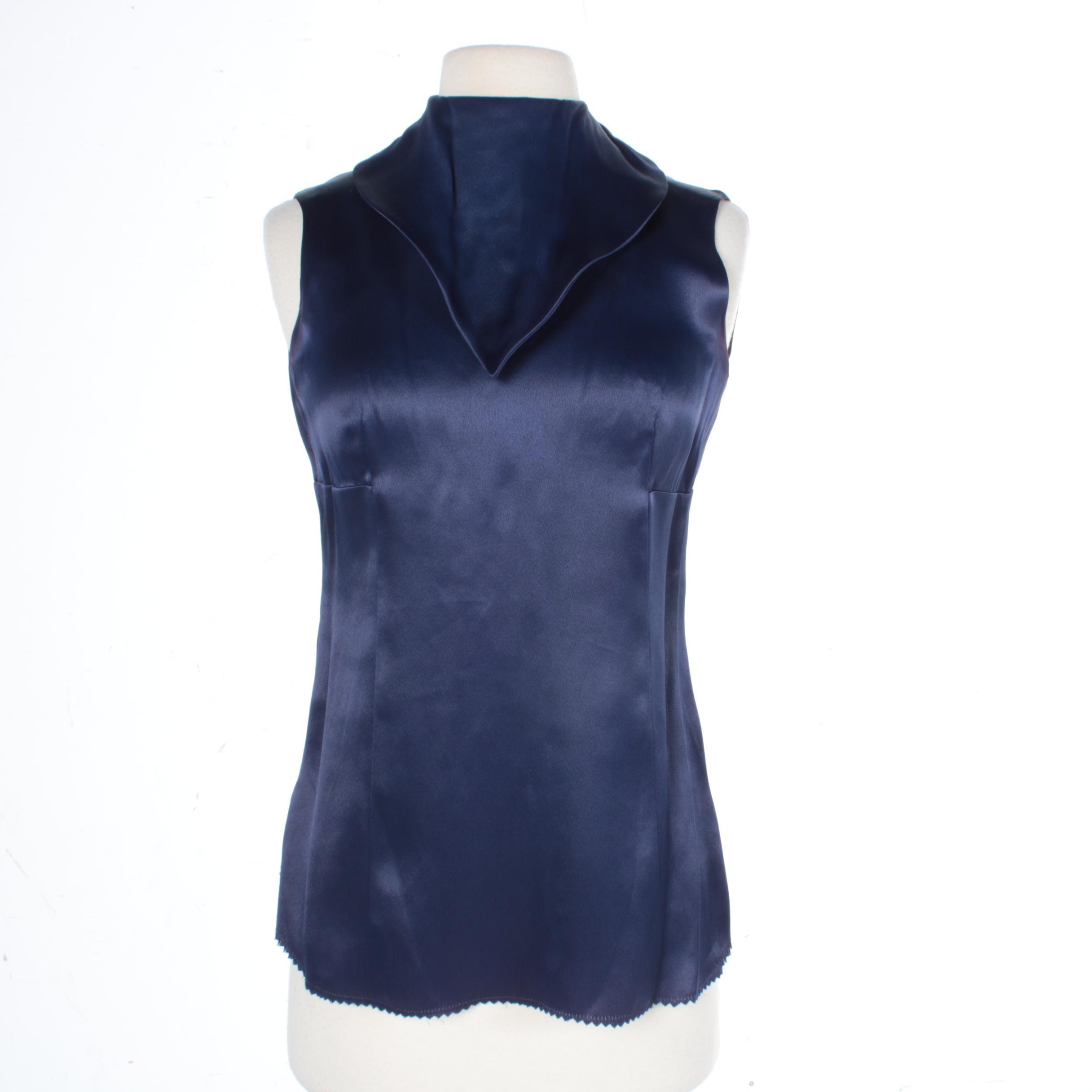 Women's Vintage Cardinali Silk Top