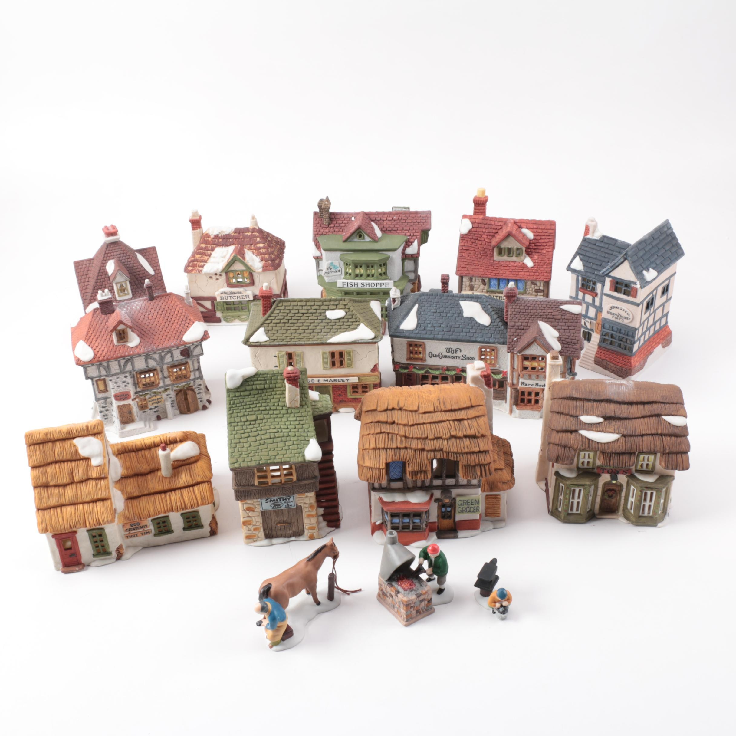 "Department 56 ""Dicken's Village Series"" Buildings and Blacksmith Set"