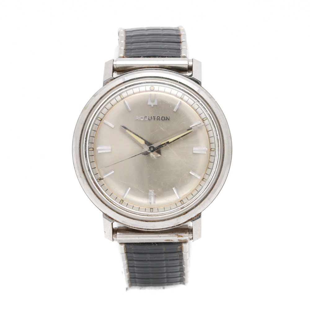 Accutron Stainless Steel Analog Wristwatch