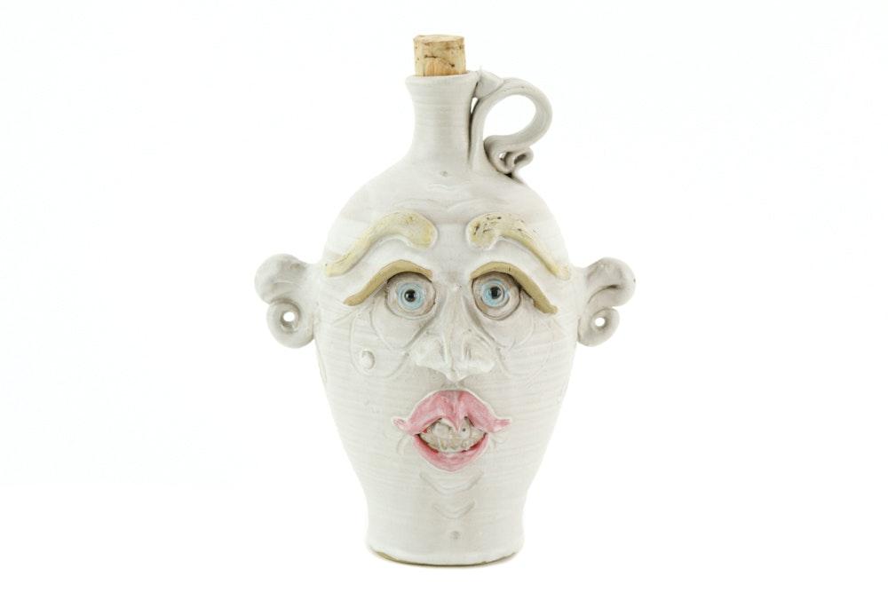 Walt Schmidt Jughead Folk Art Face Jug
