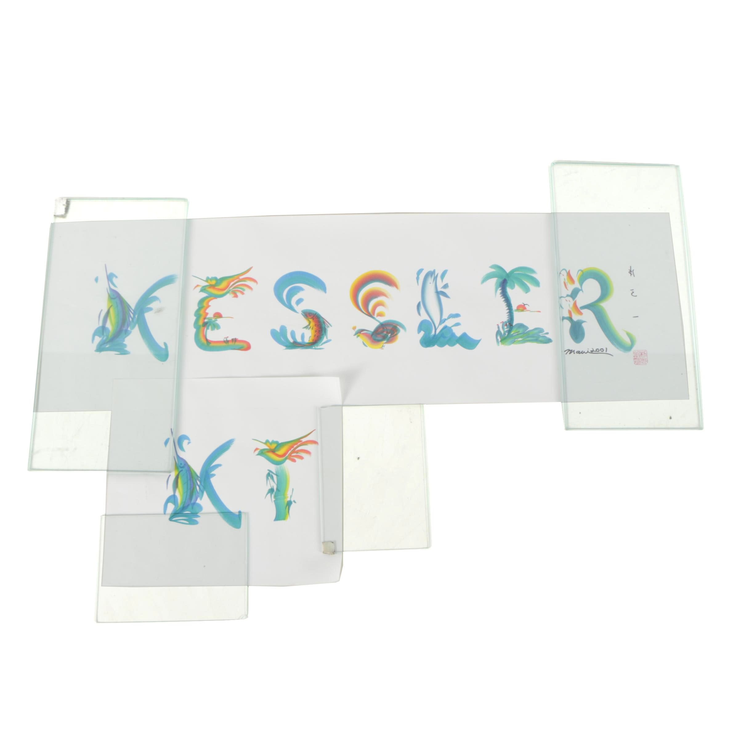"Hand Painted Calligraphy ""K T Kessler"""