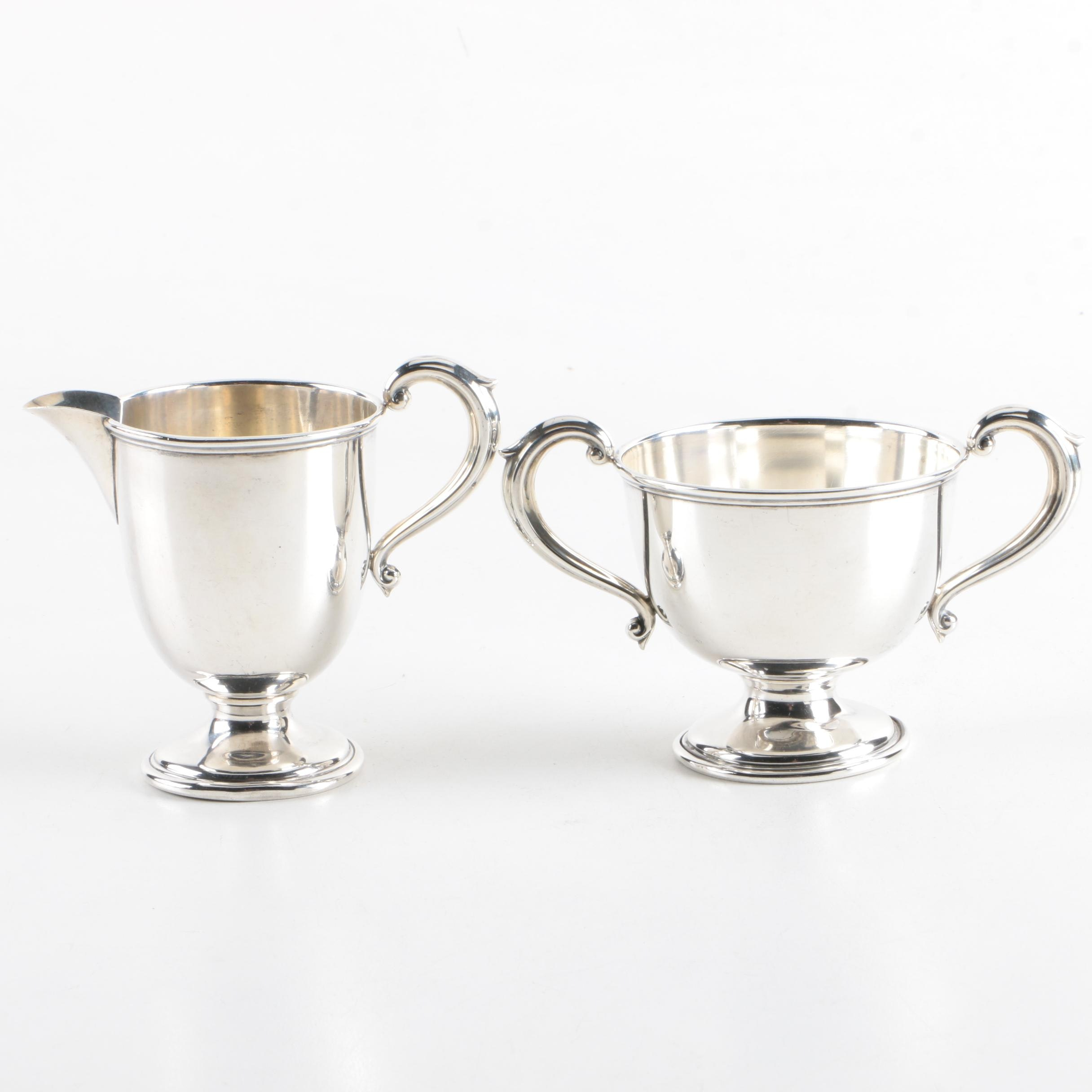 Mueck-Carey Co. Sterling Silver Creamer and Sugar Bowl