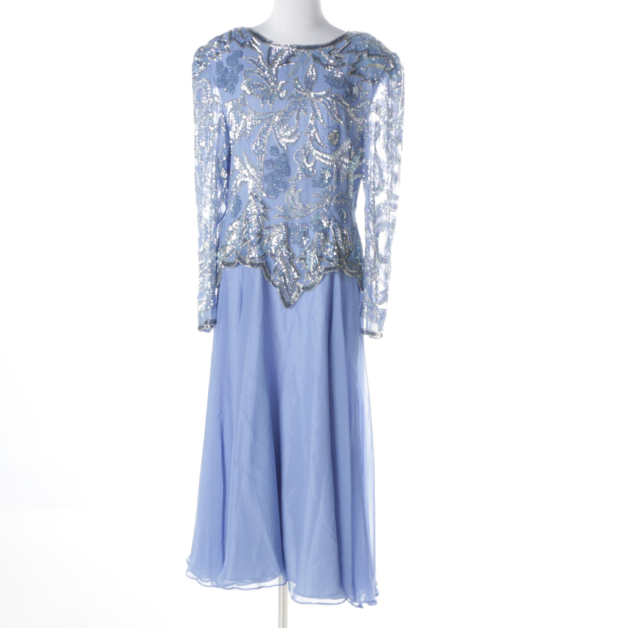 Lillie Rubin Embellished Occasion Dress
