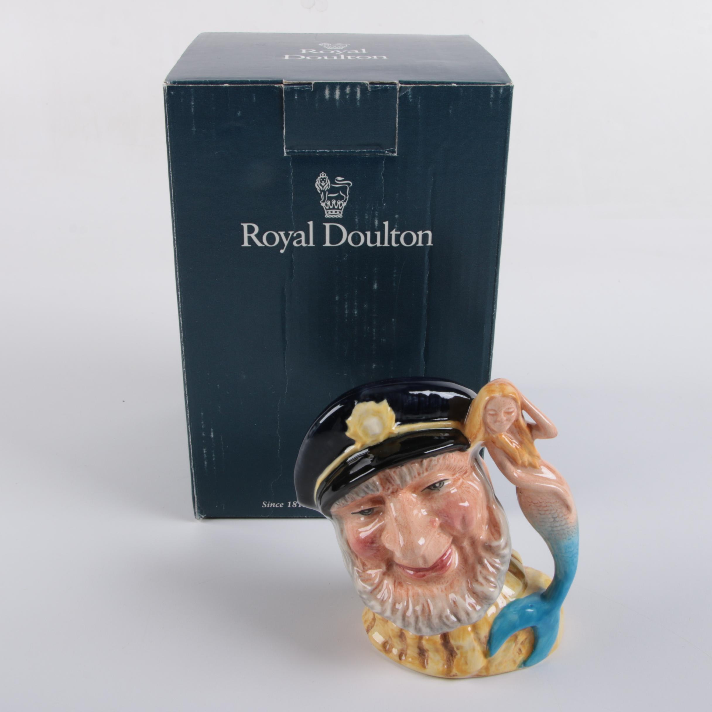 "2000 Royal Doulton Treasure Chest ""Old Salt"" Character Jug"