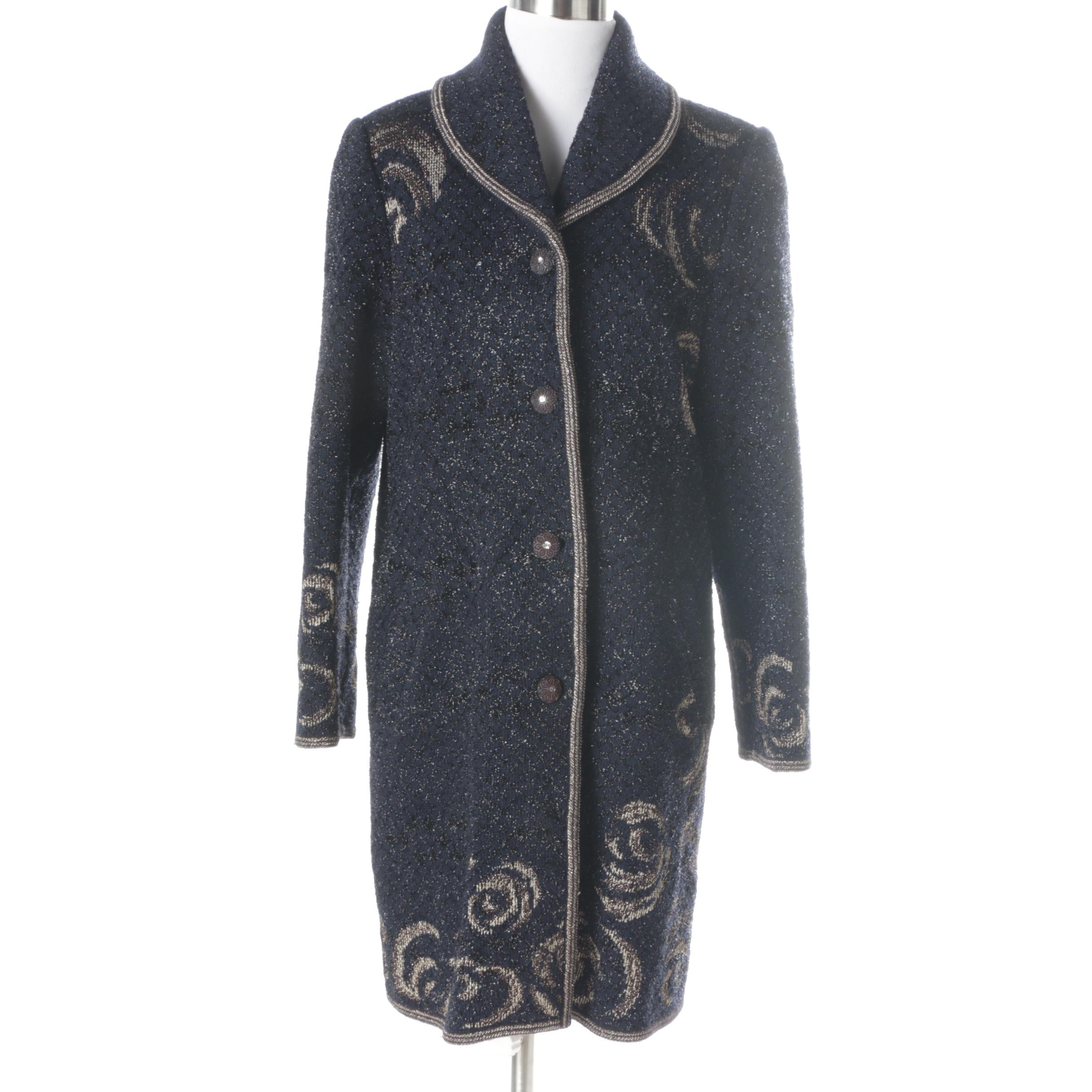 Women's Escalier Knit Coat
