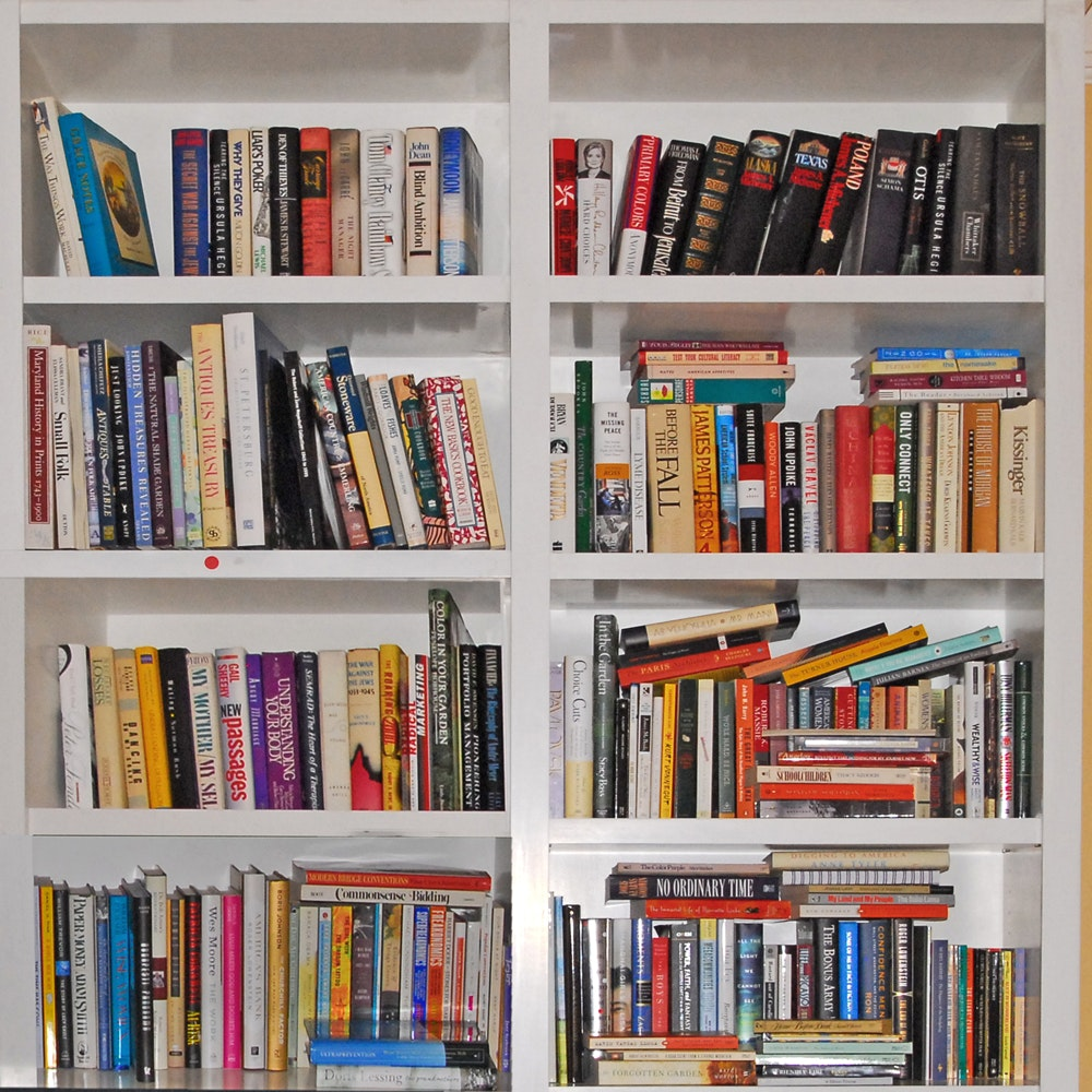 Large Assortment of Cookbooks and History Books