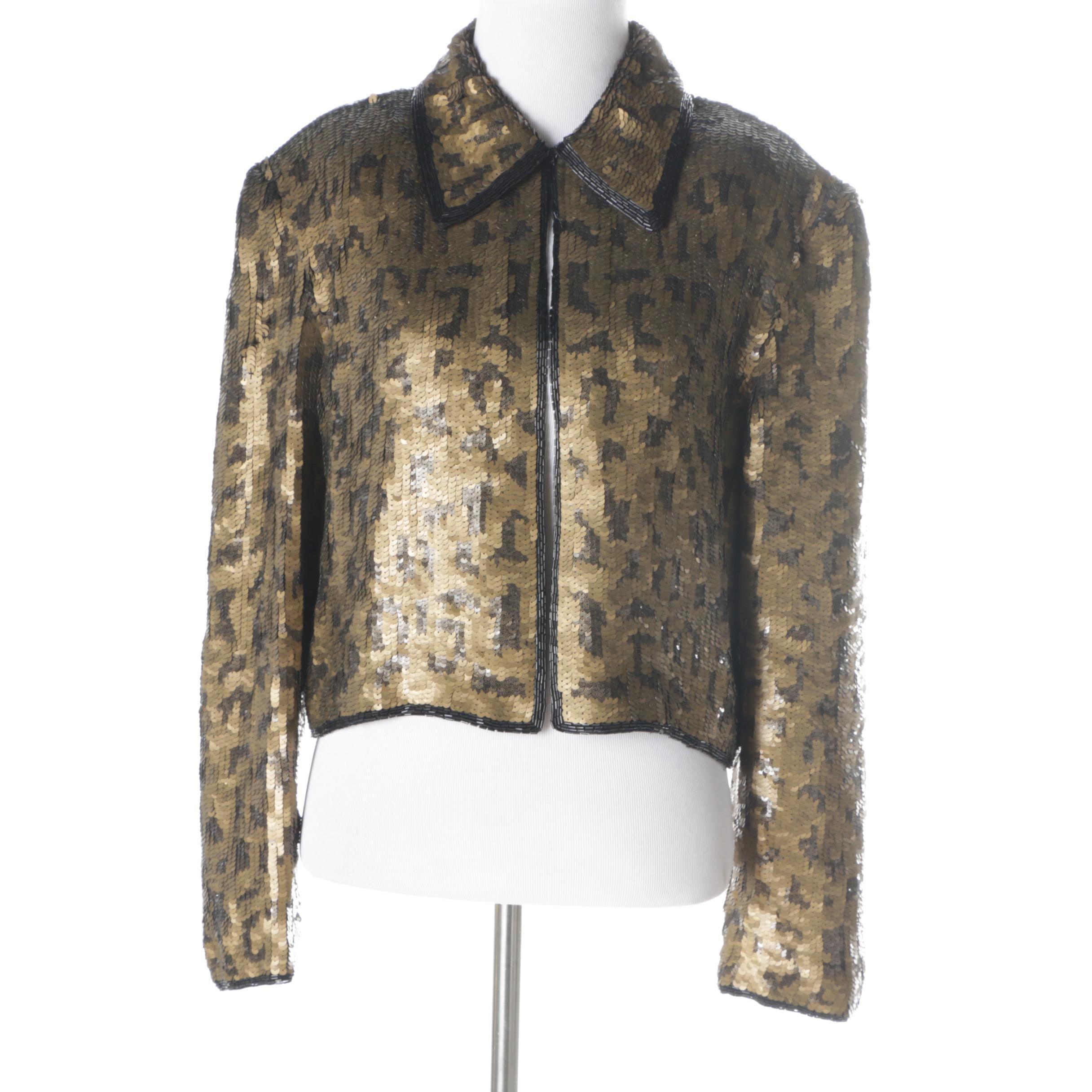 Vintage Adrianna Papell Evening Sequinned Jacket
