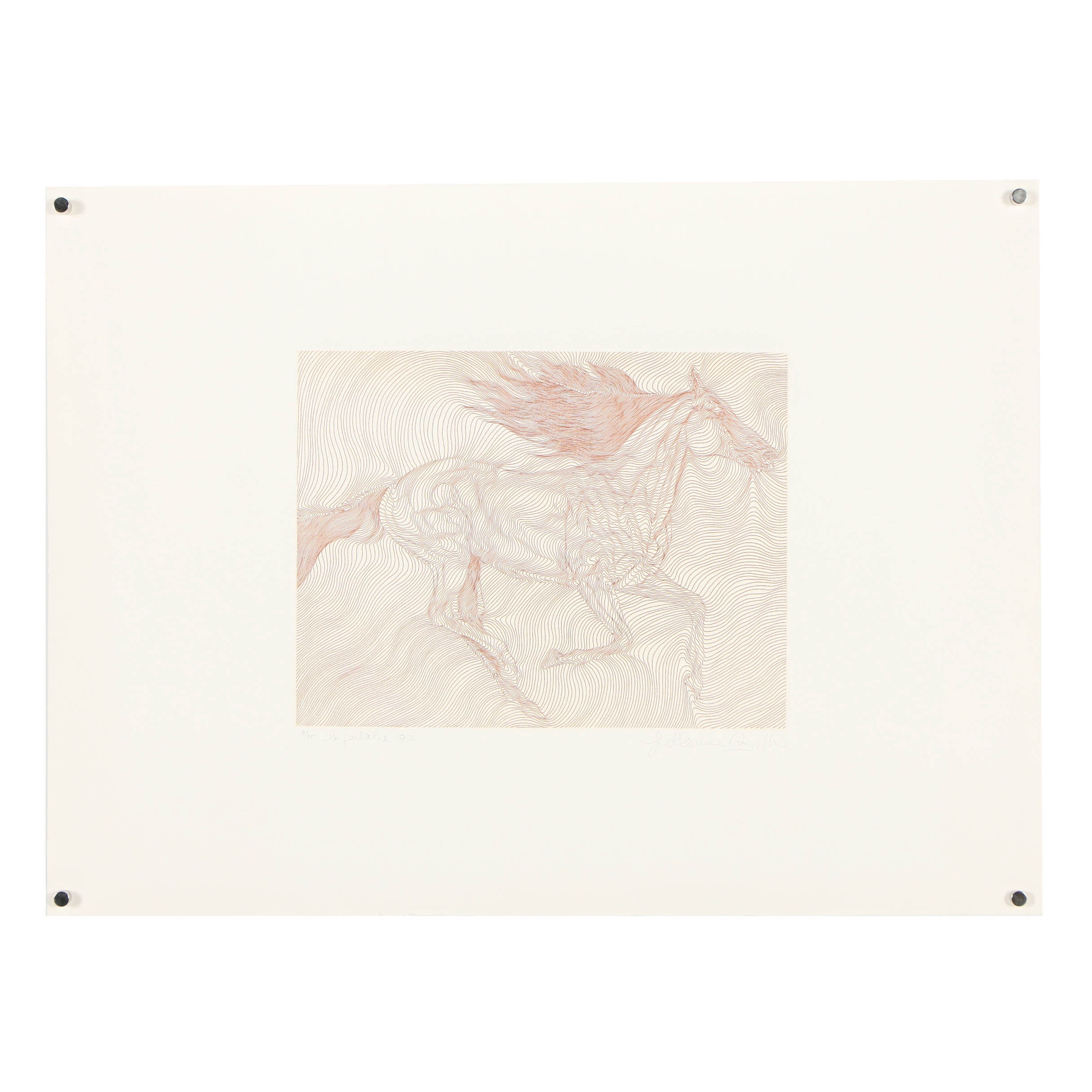 "Guillaume Azoulay Limited Edition Etching ""La Pouliche"""