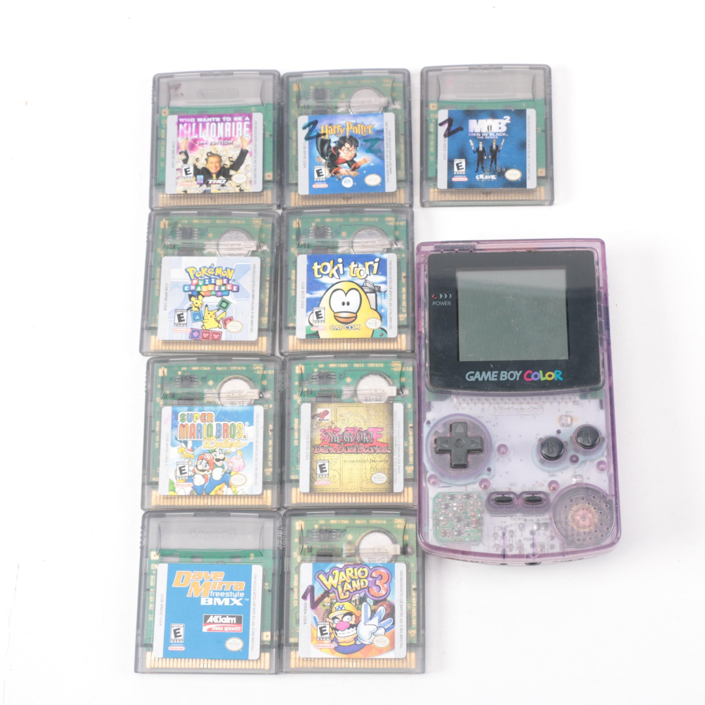 Nintendo Game Boy Color with Games