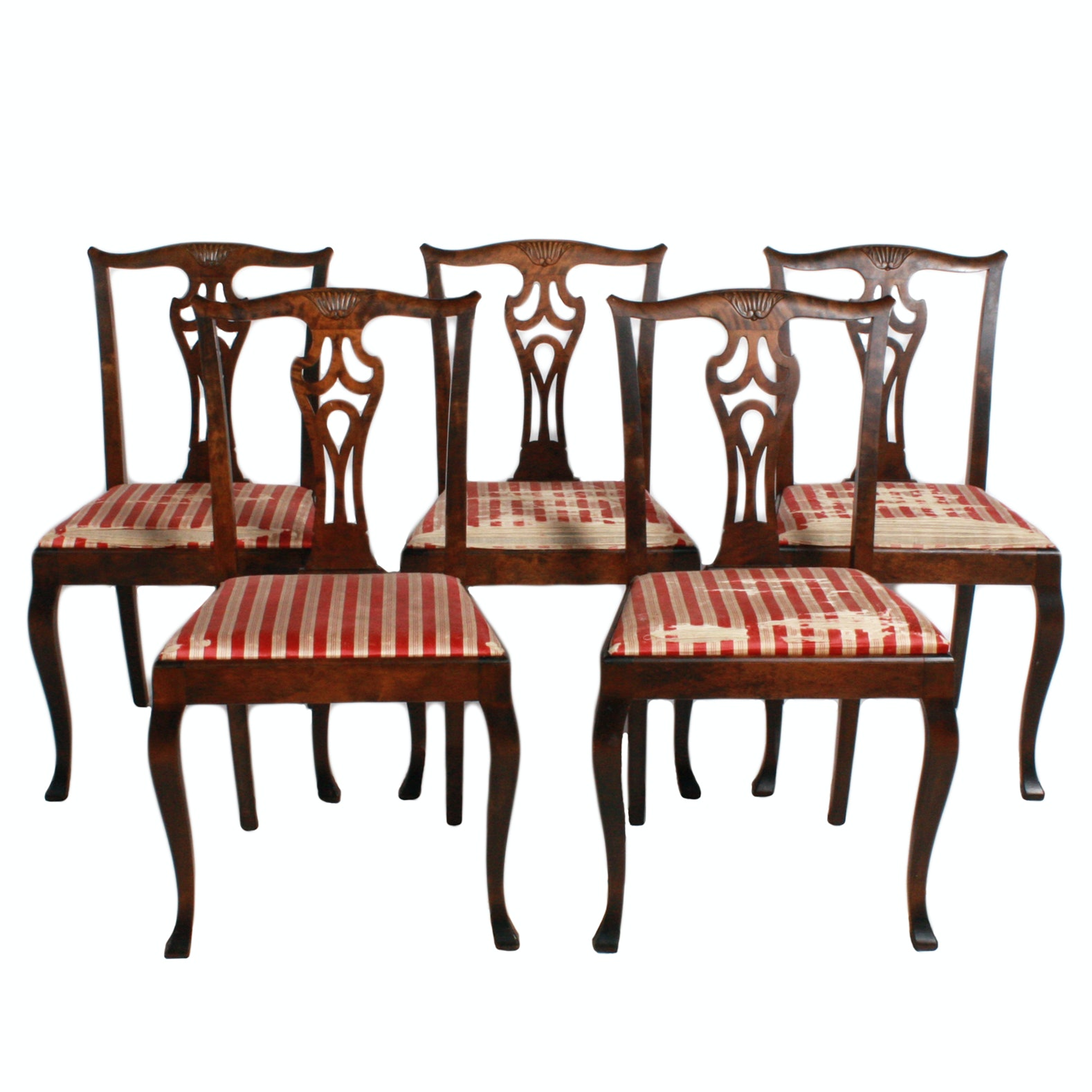 Set of Vintage Chippendale Style Dining Chairs