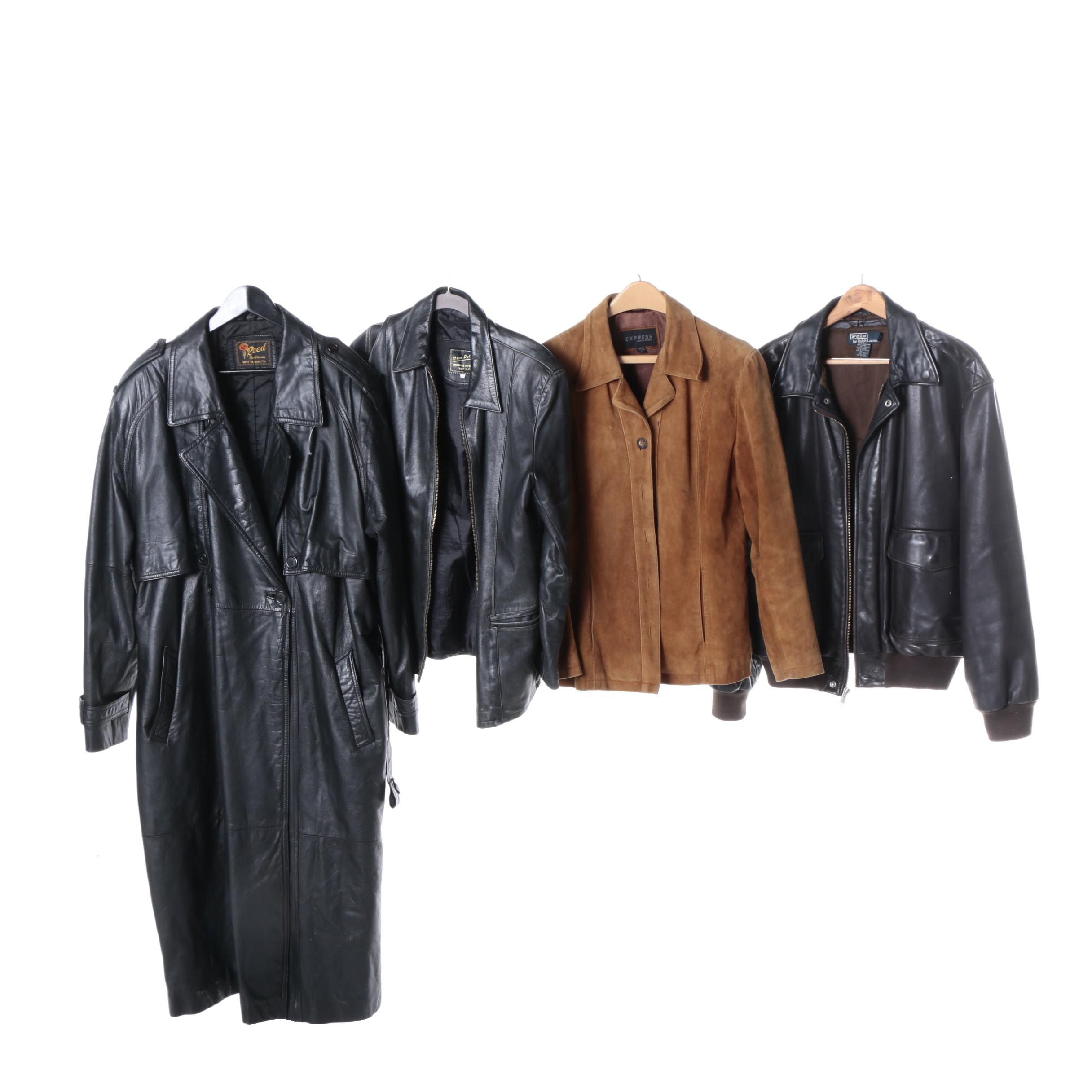 Men's and Women's Vintage Leather Jackets Including Polo by Ralph Lauren