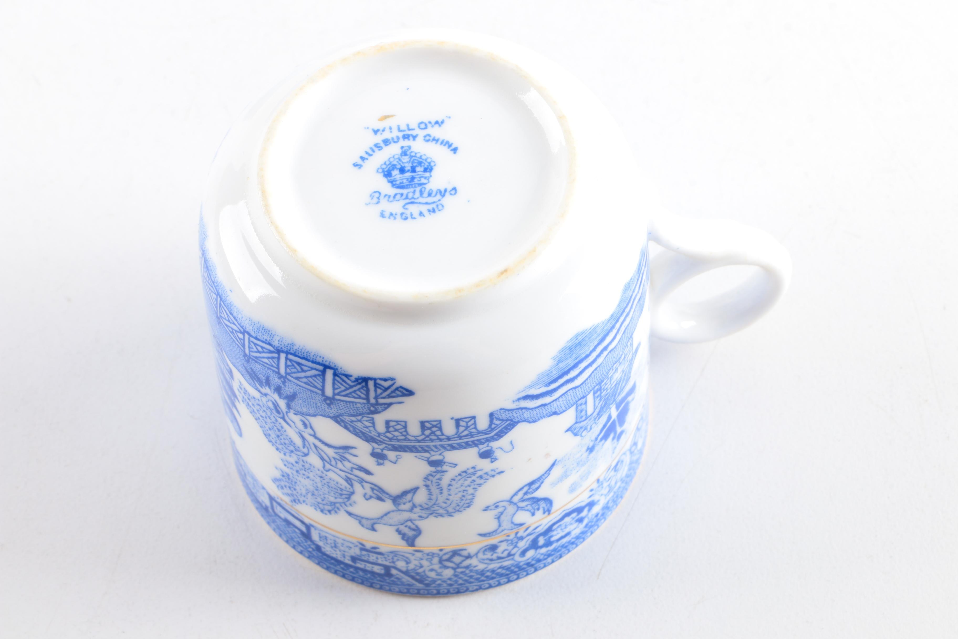 Circa 1930s Salisbury China Quot Willow Quot Transfer Printed
