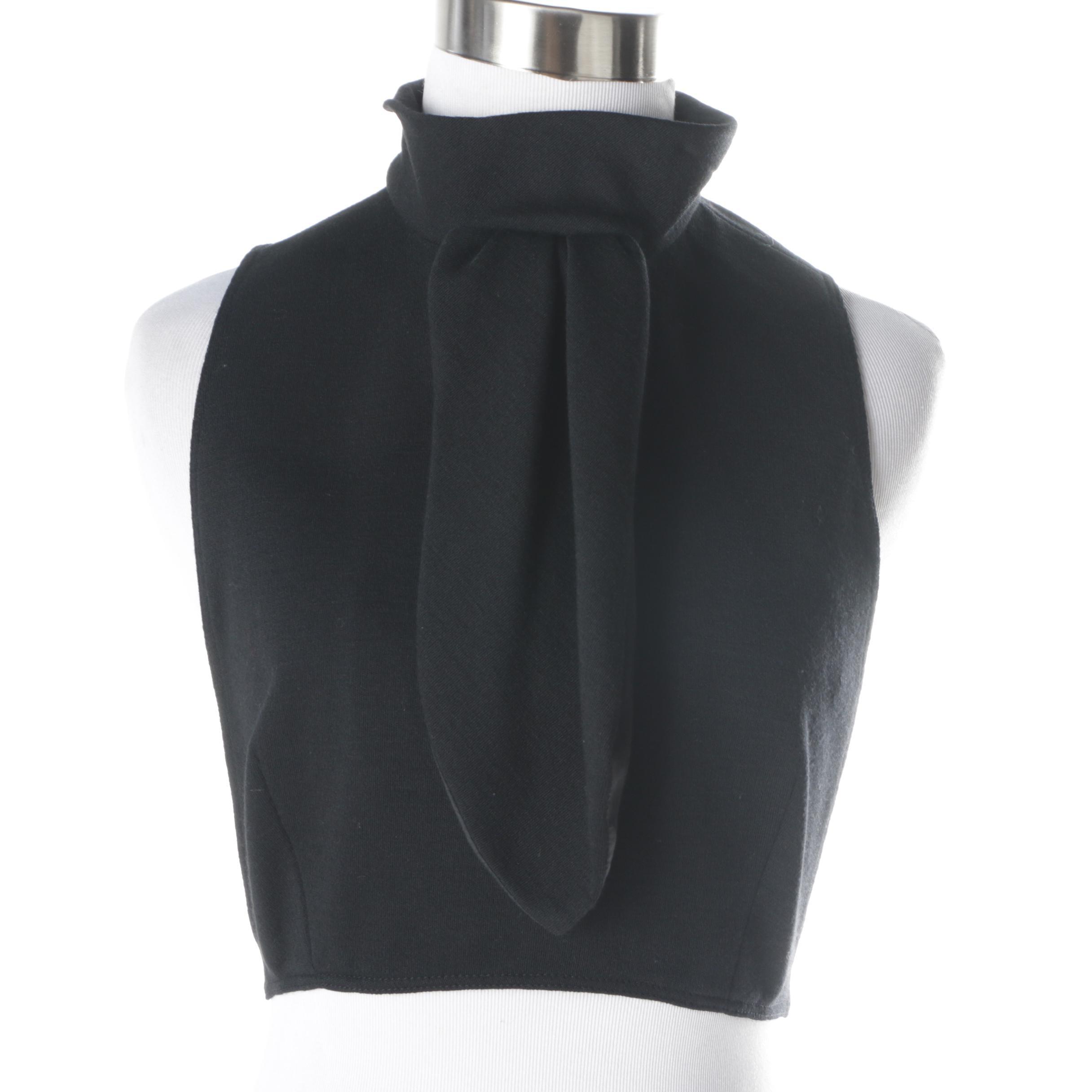 Women's Vintage Cardinali Black Halter Top