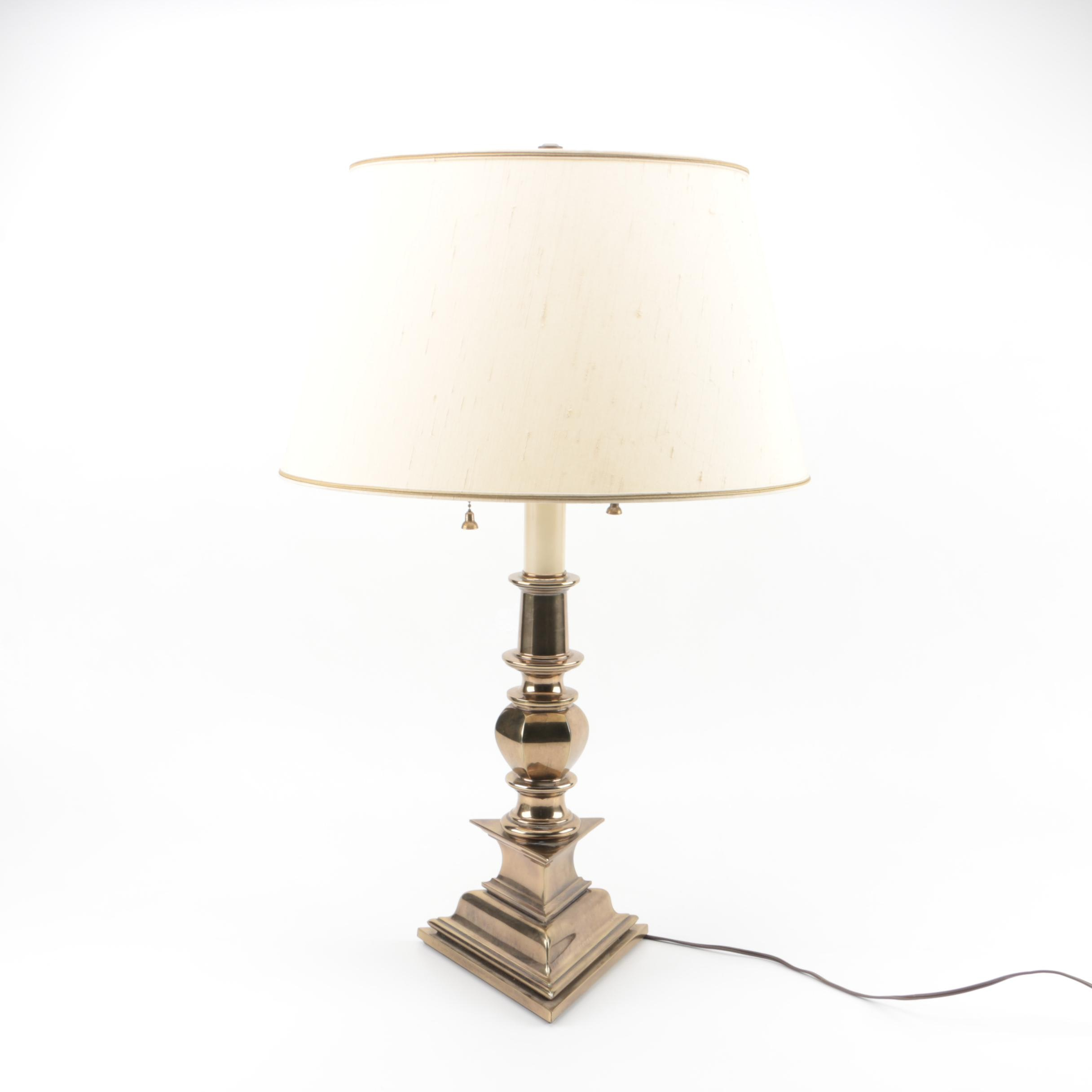 Brass Table Lamp and Stiffel Shade