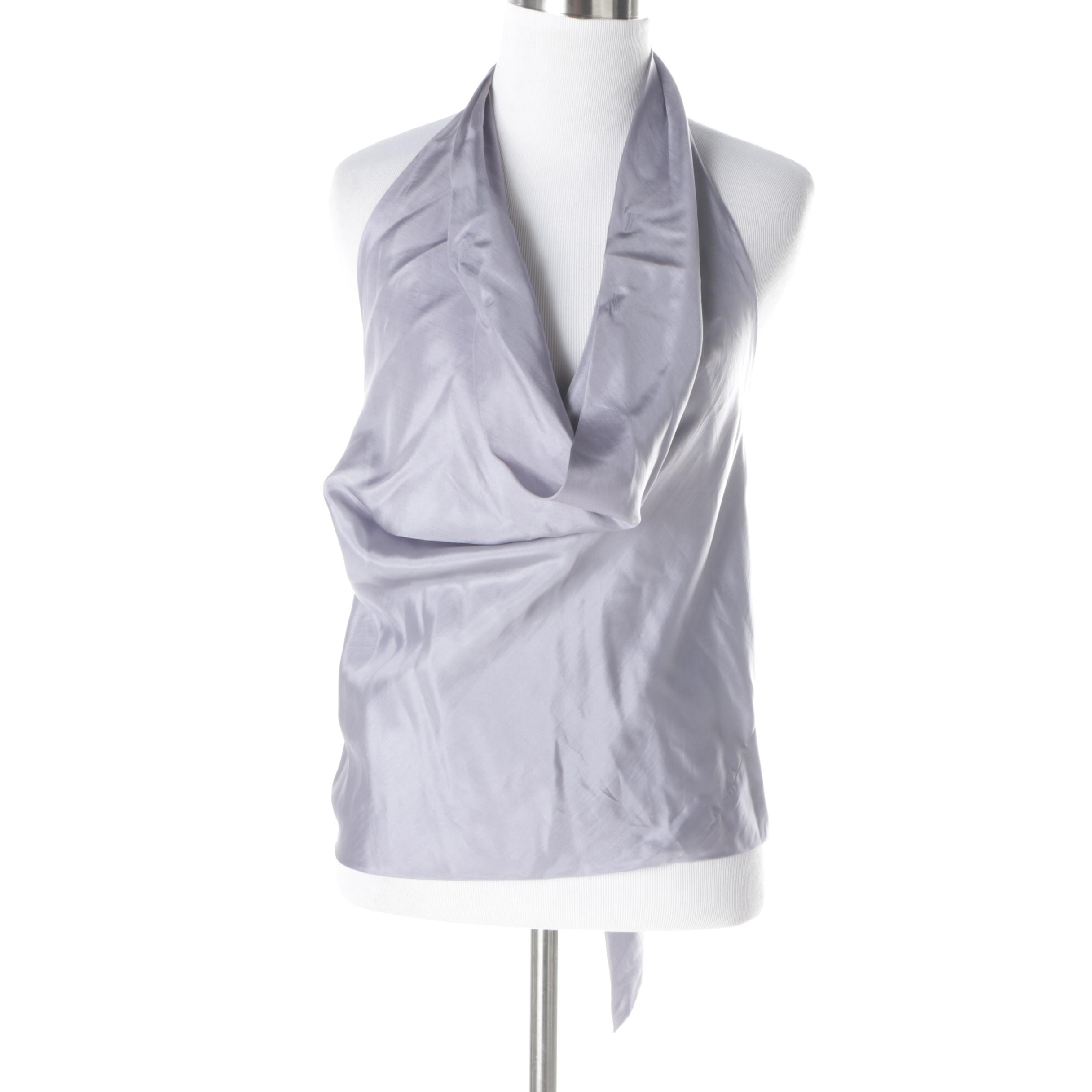 Vintage Cardinali Lavender Silk Halter Top