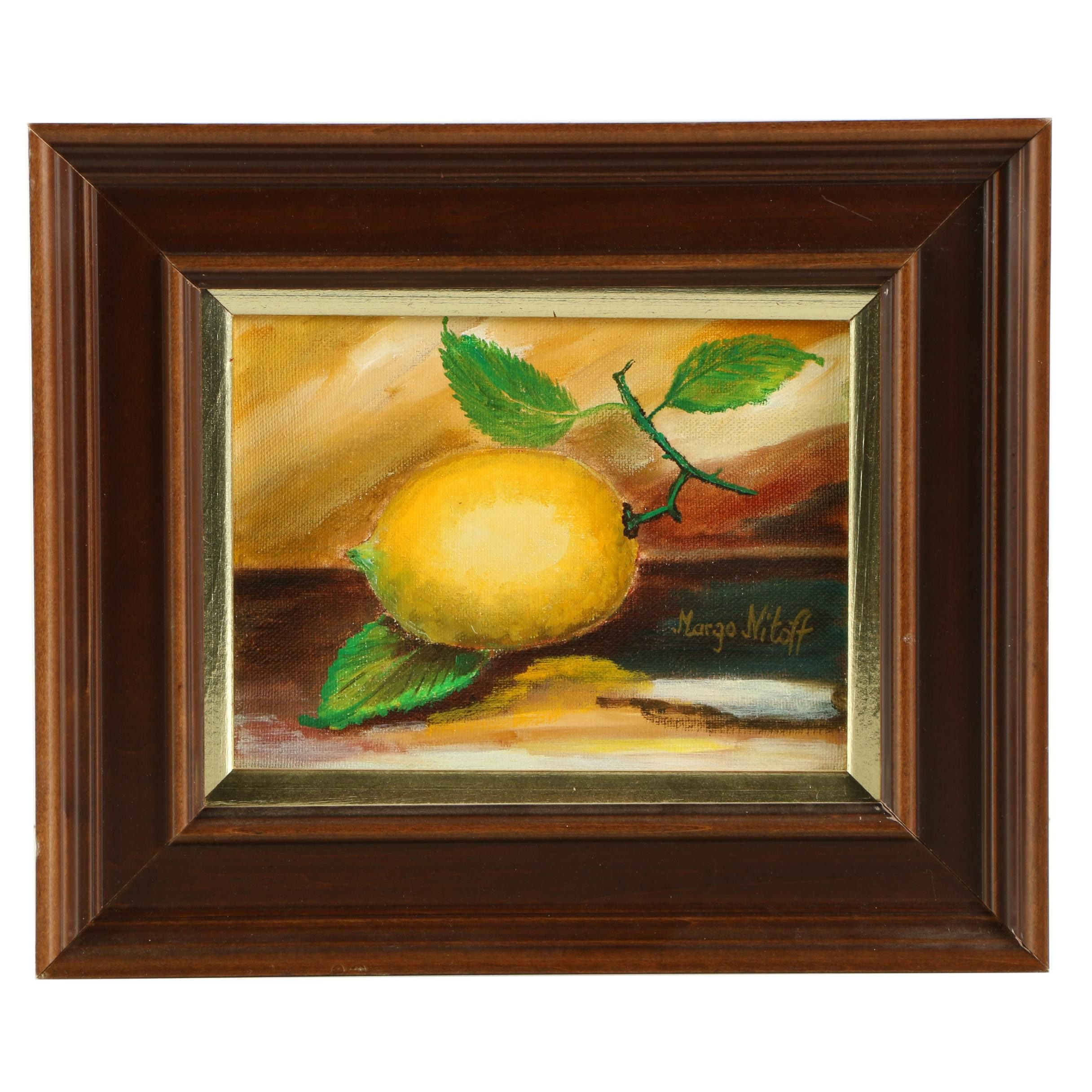 Margo Nitoff Oil Painting of a Lemon