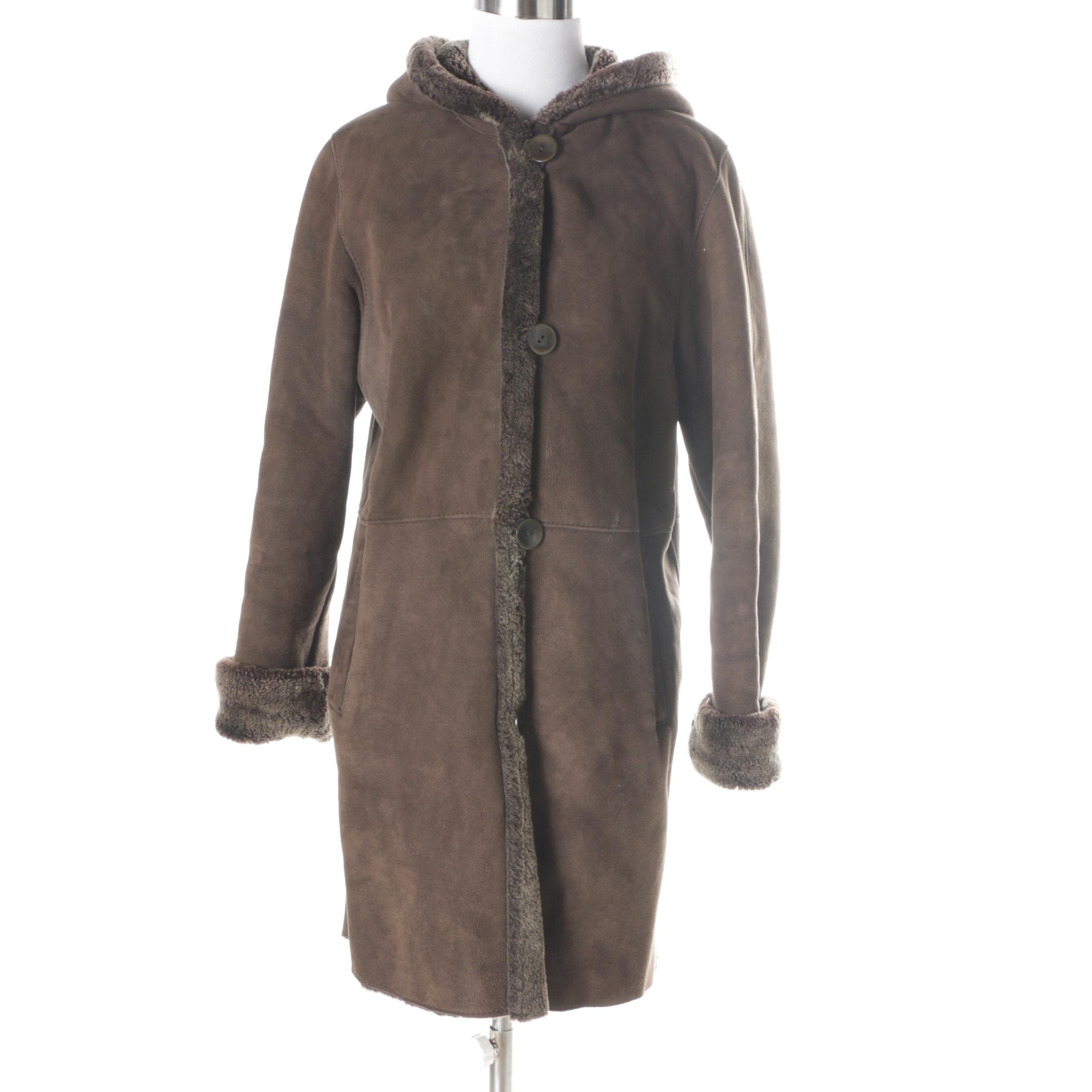Blue Duck Leather and Shearling Coat