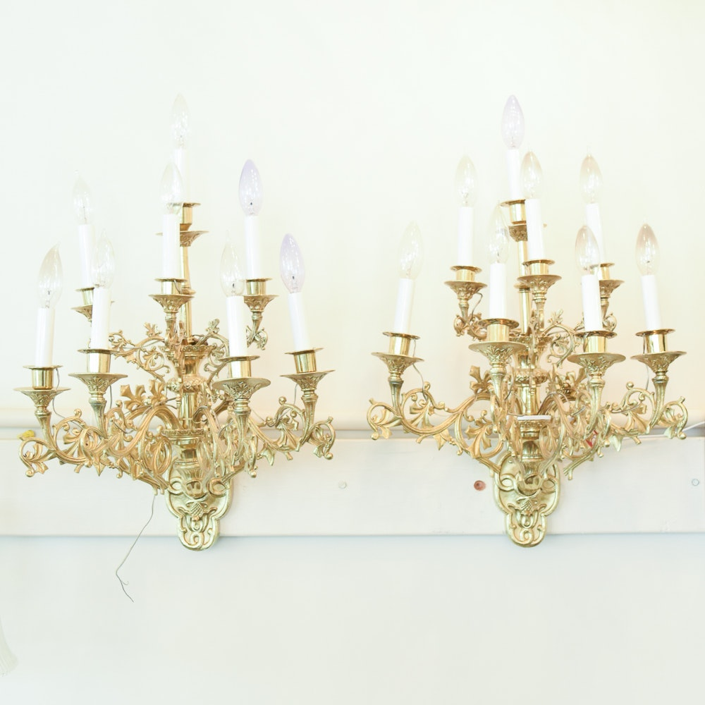 Brass Candelabra Wall Sconces