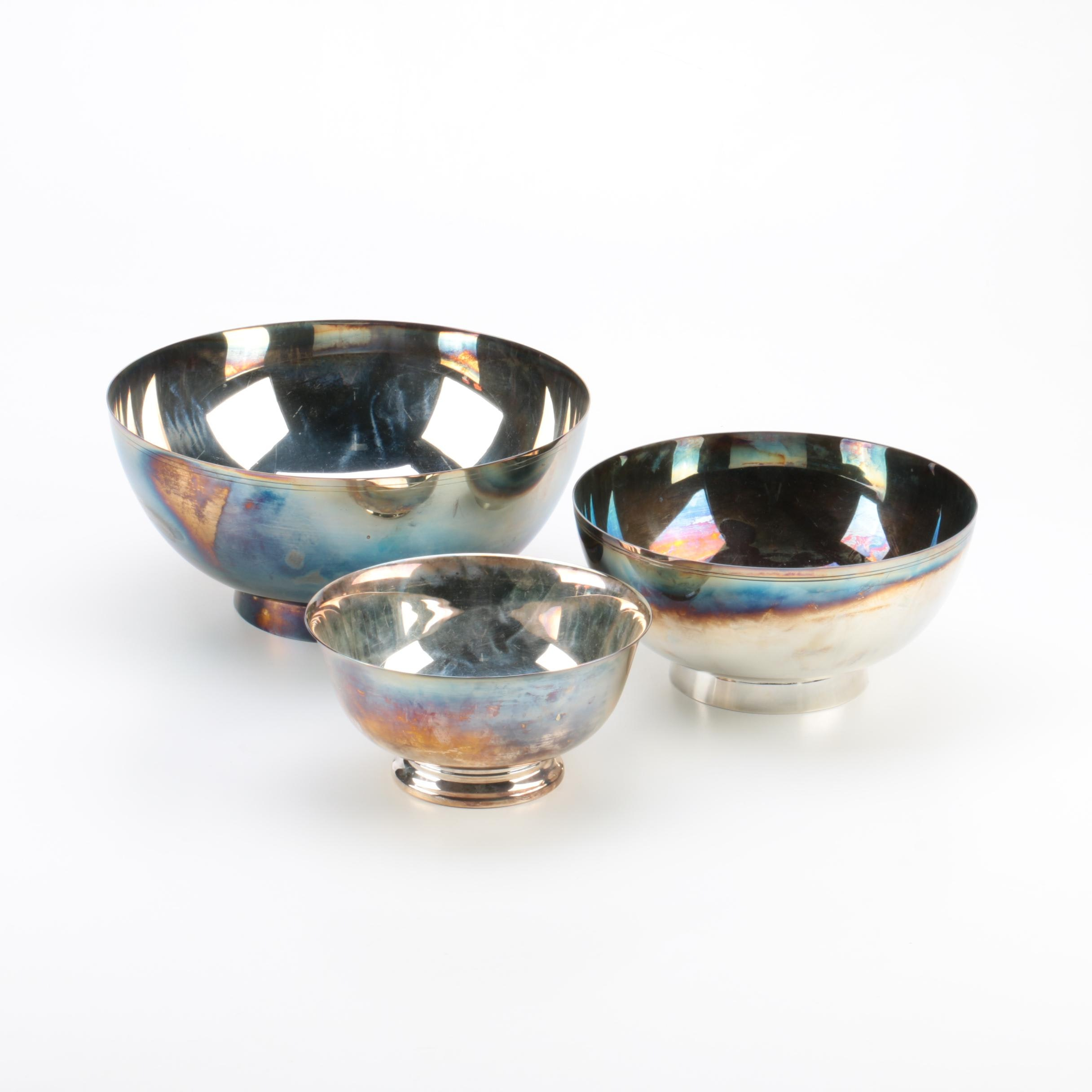 Lunt Silversmiths and Reed & Barton Silver-Plated Bowls