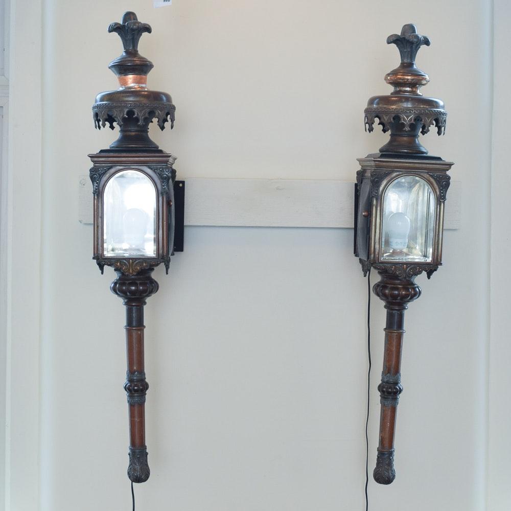 Circa 1890 Carriage Wall Lanterns