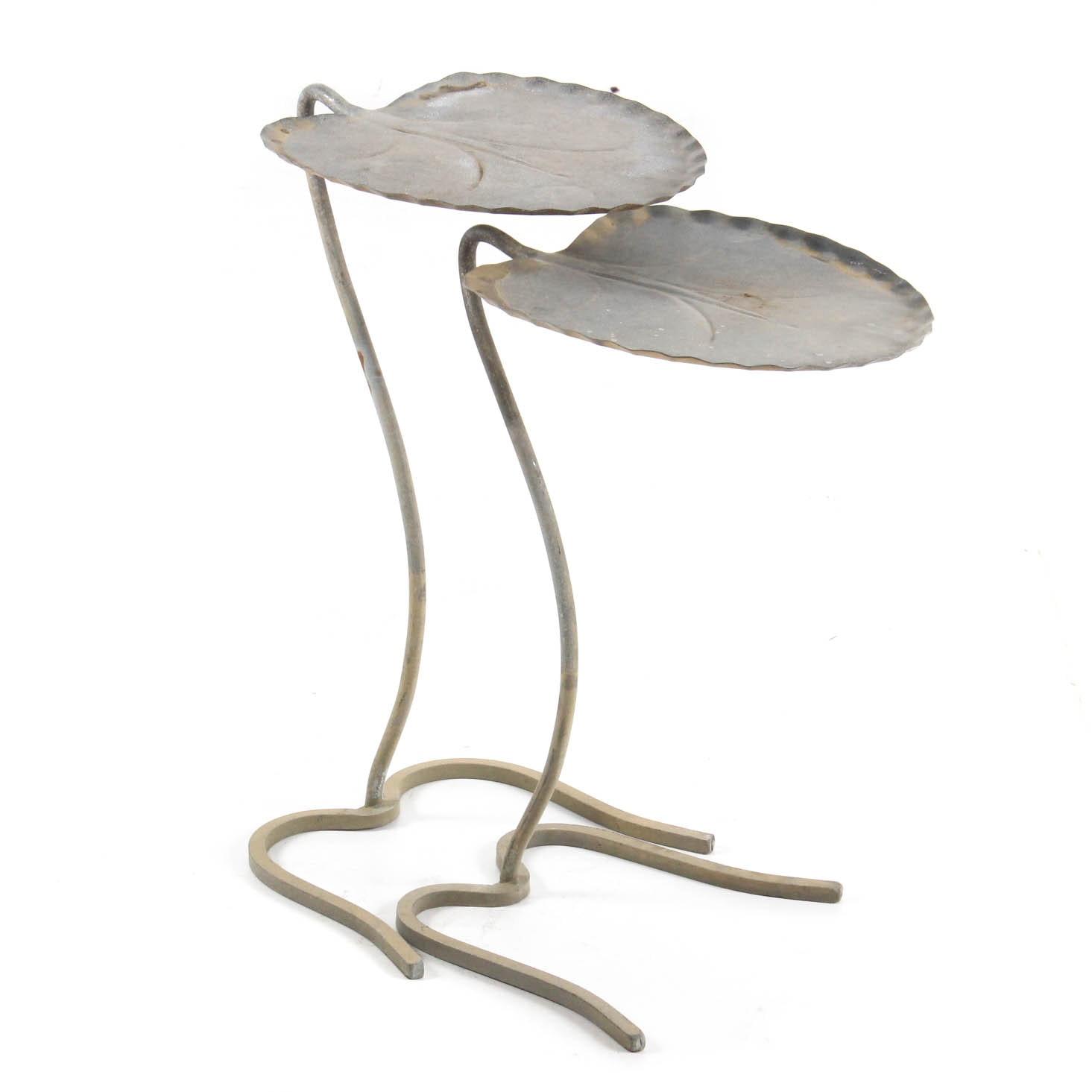 Mid-Century Salterini Iron Lily Pad Nesting Tables
