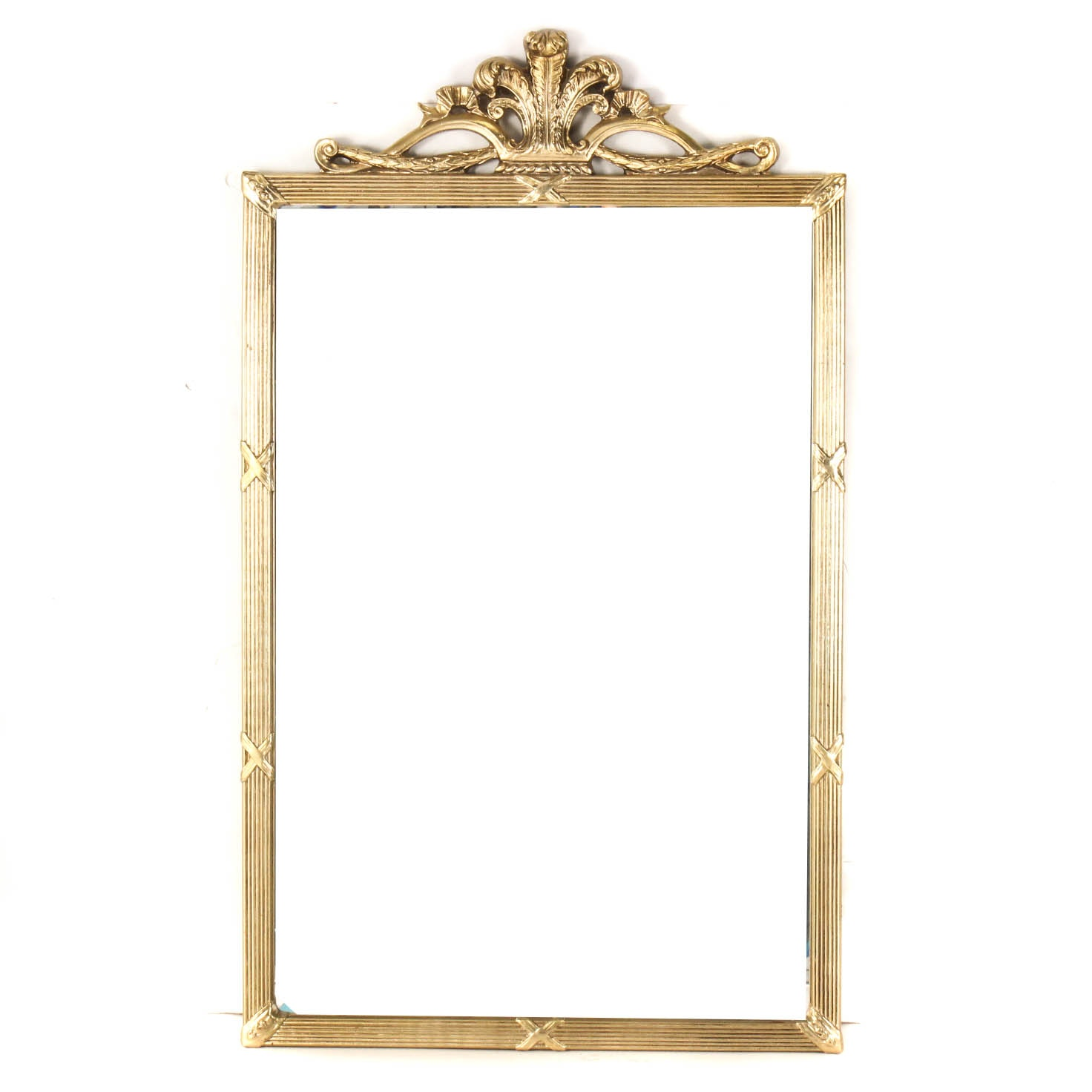 Ornate Gold Tone Wall Mirror