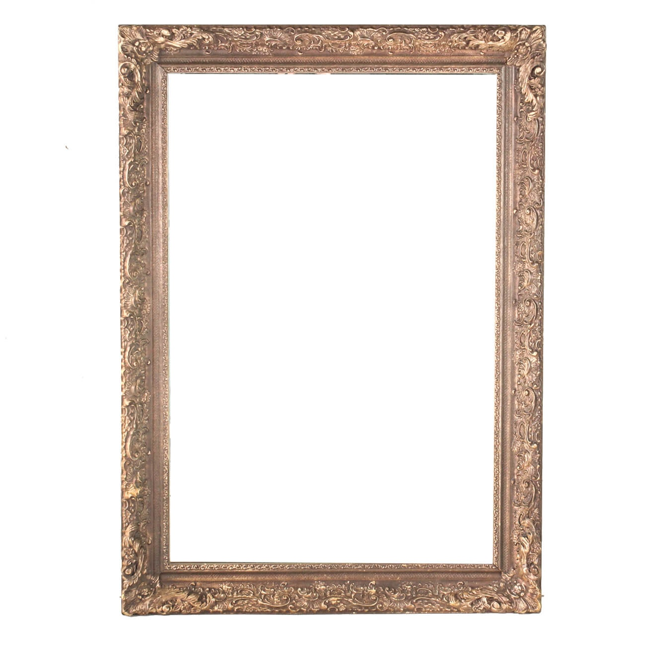 Ornate Wall Mirror with Gold Tone Frame
