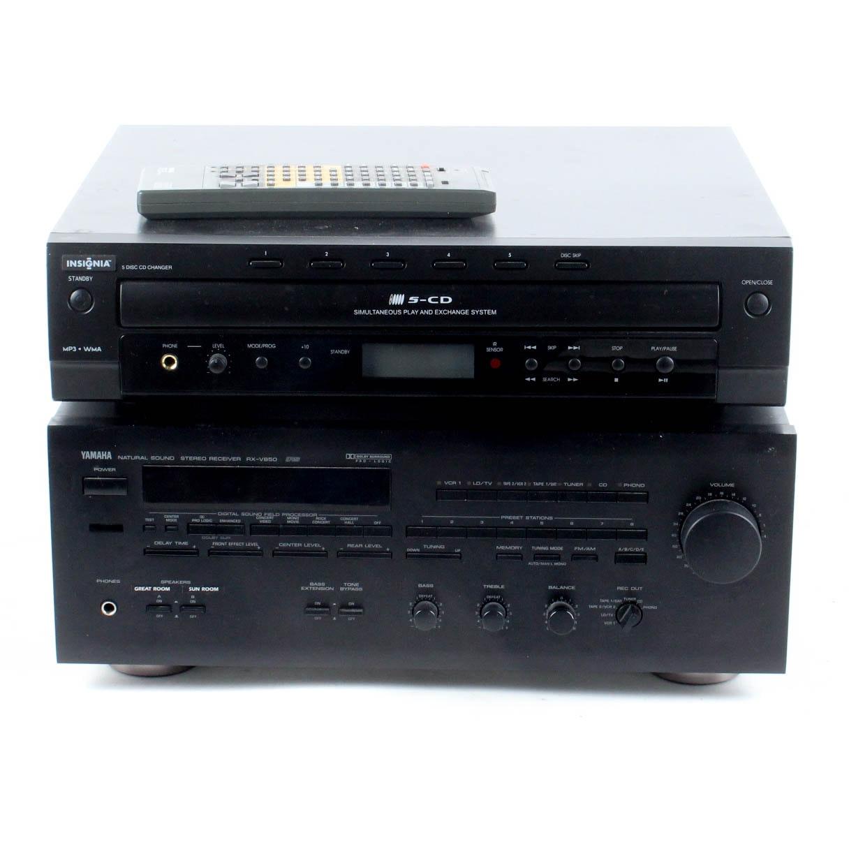 yamaha rx v850 reciever and insignia cd changer ebth rh ebth com insignia cd player manual ns-p4112 insignia cd mp3 player manual