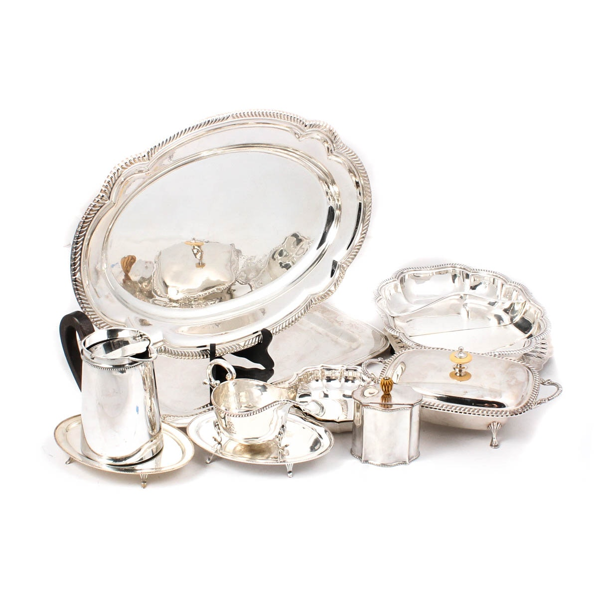 Collection of Silver Plate Serving Pieces