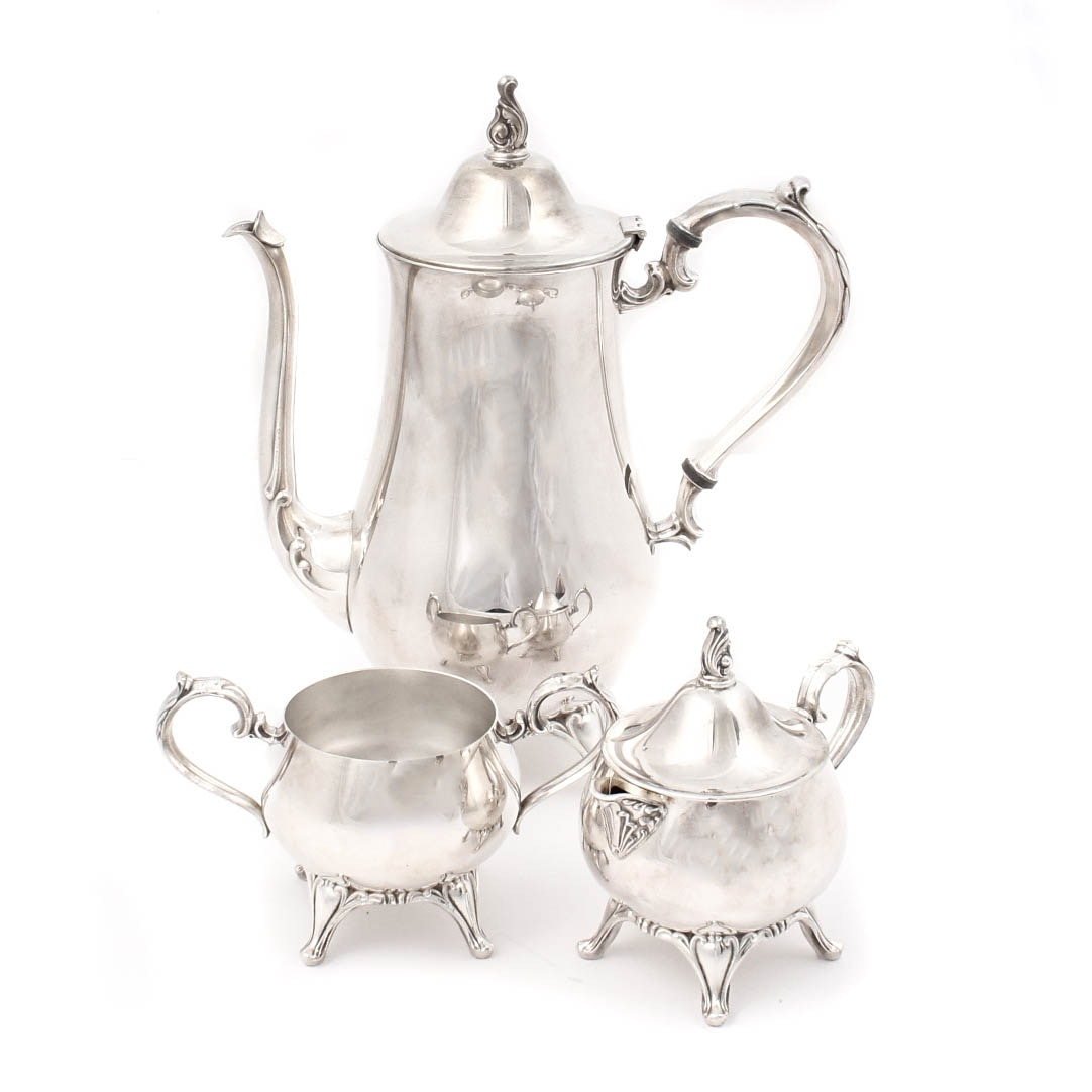 Wm A. Rogers Silver-Plated Coffee Service