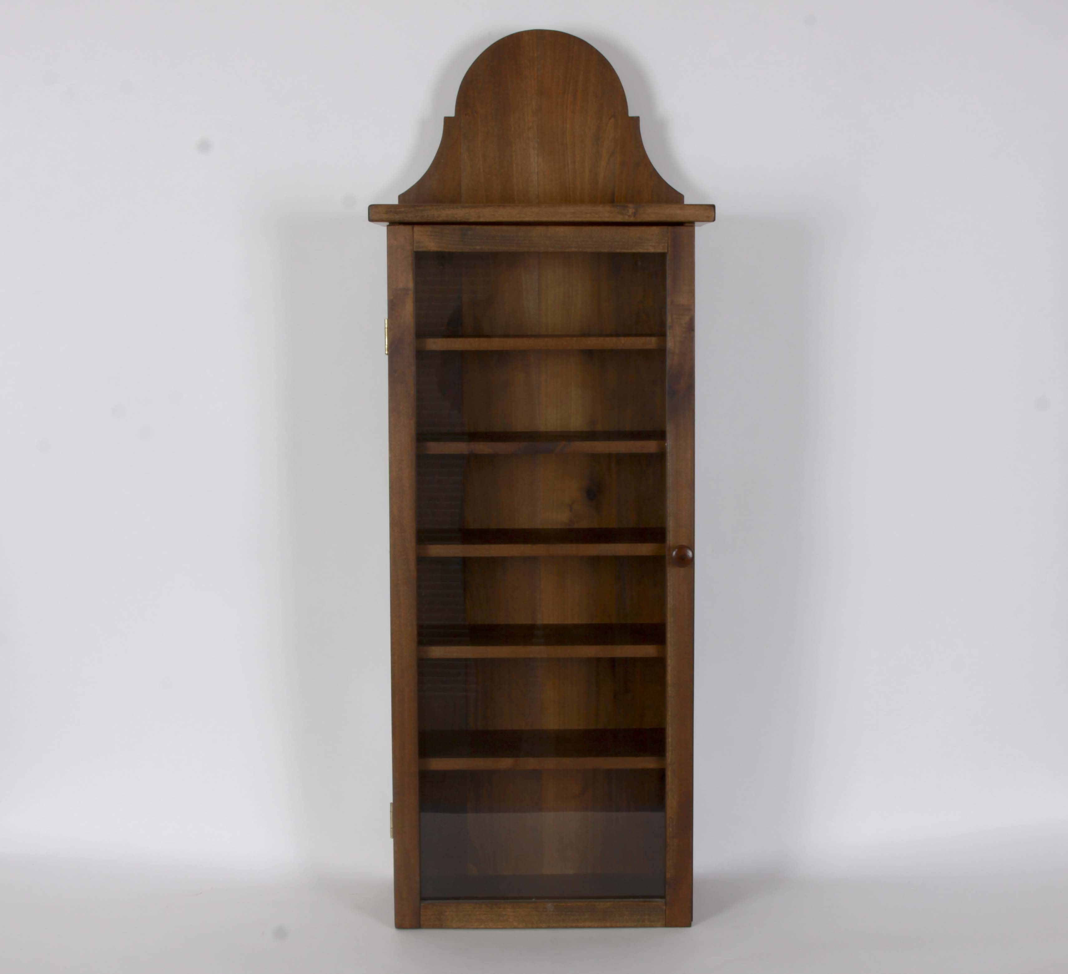 Handcrafted Wood Display Cabinet