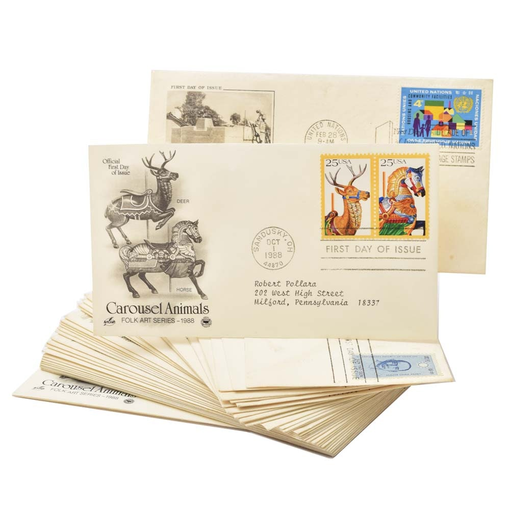 First Day of Issue Franked Stamps on Envelopes Collection