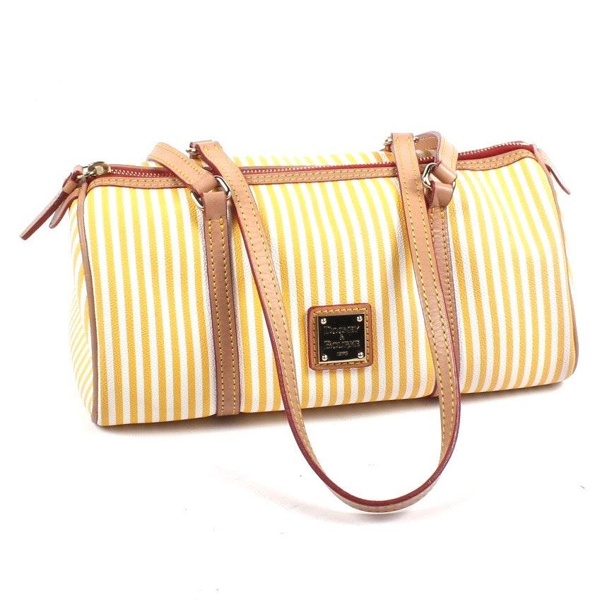 Dooney & Bourke Striped Leather Handbag