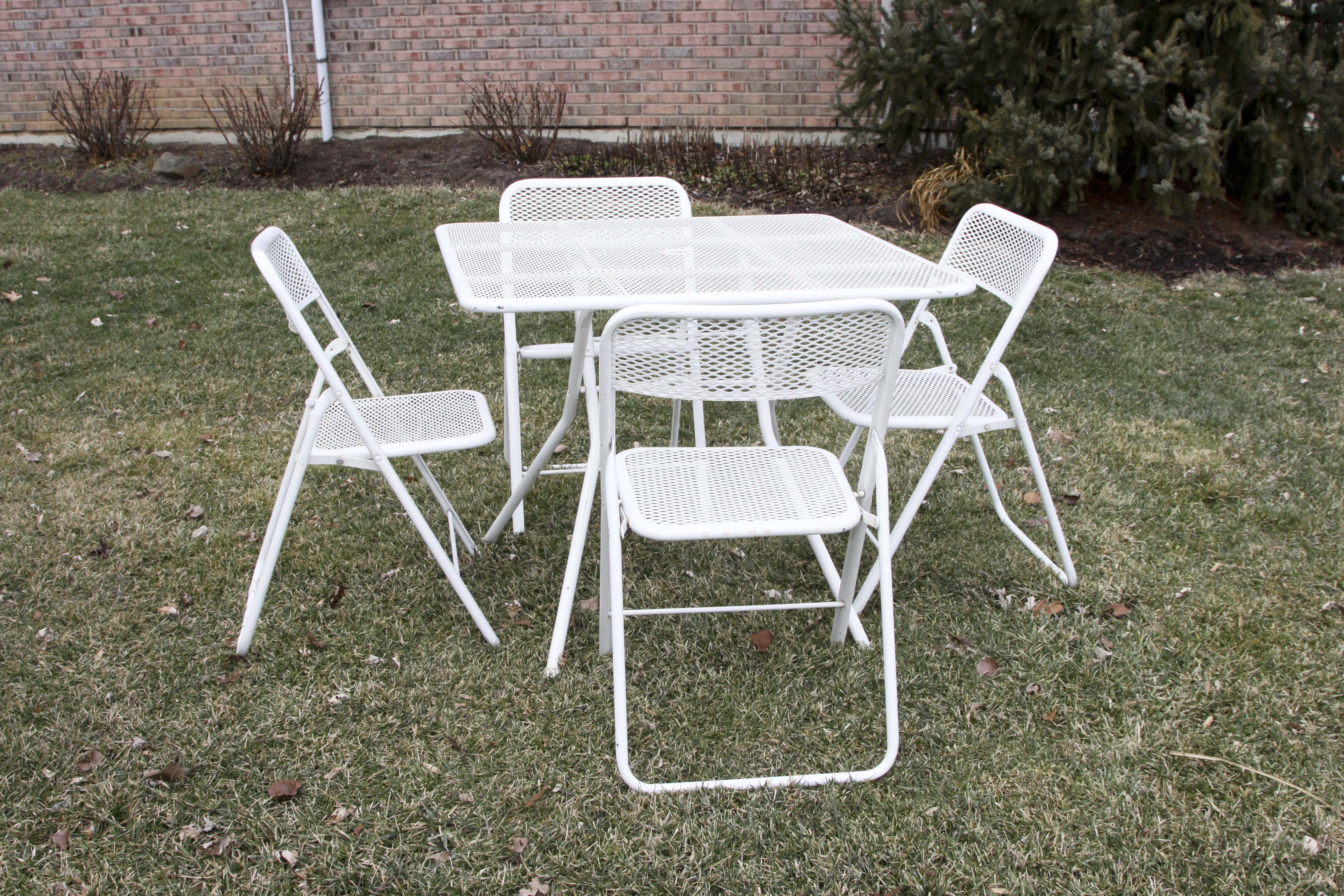 Outdoor Metal Folding Table and Chairs