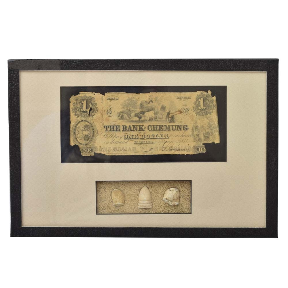 Obsolete United States Currency and Ammunition