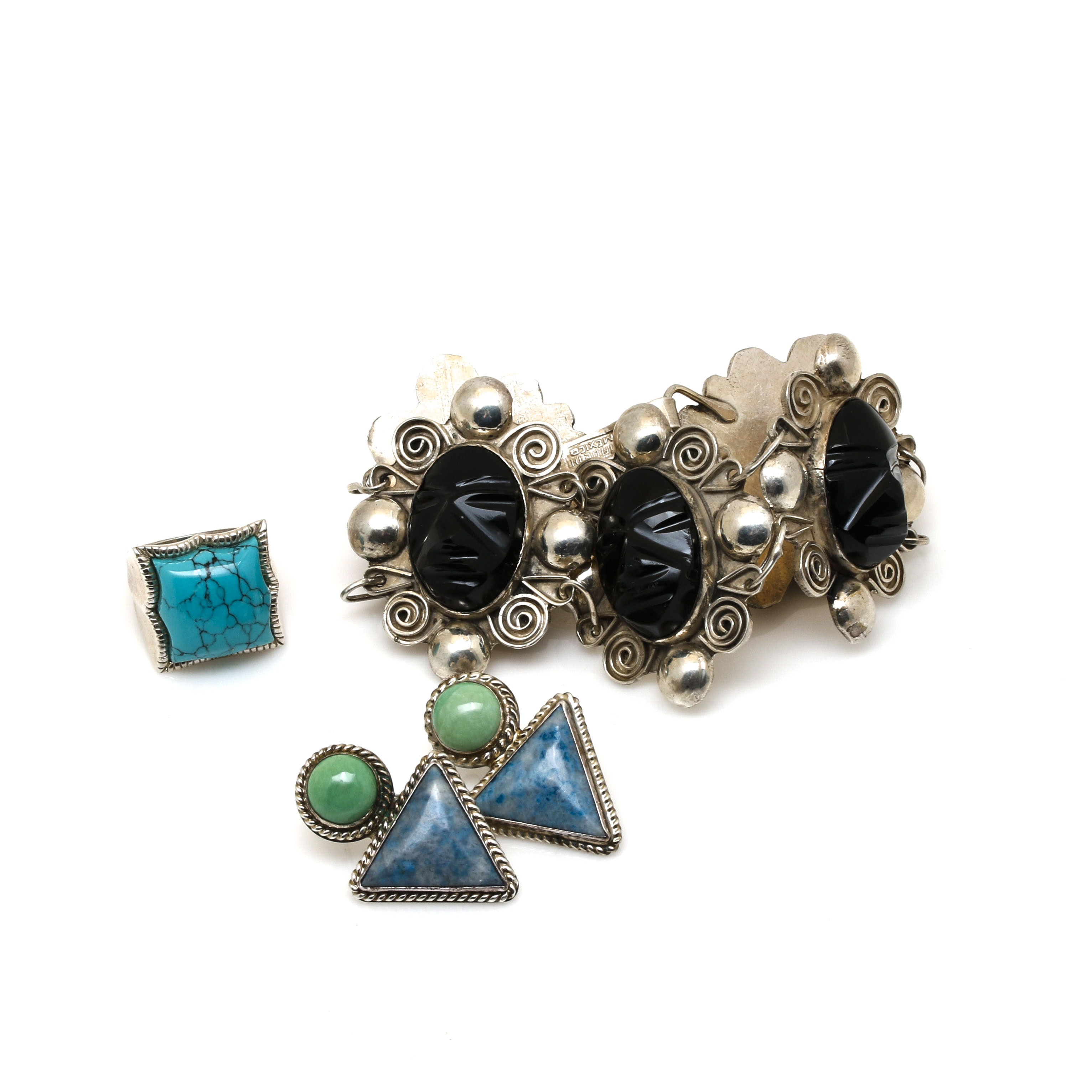 Southwestern Style Sterling Silver Jewelry Including Carolyn Pollack